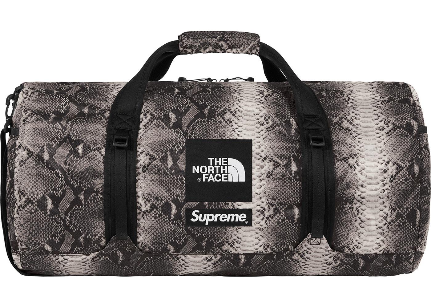 fe926feca SS18 TNF Snakeskin Duffle Bag