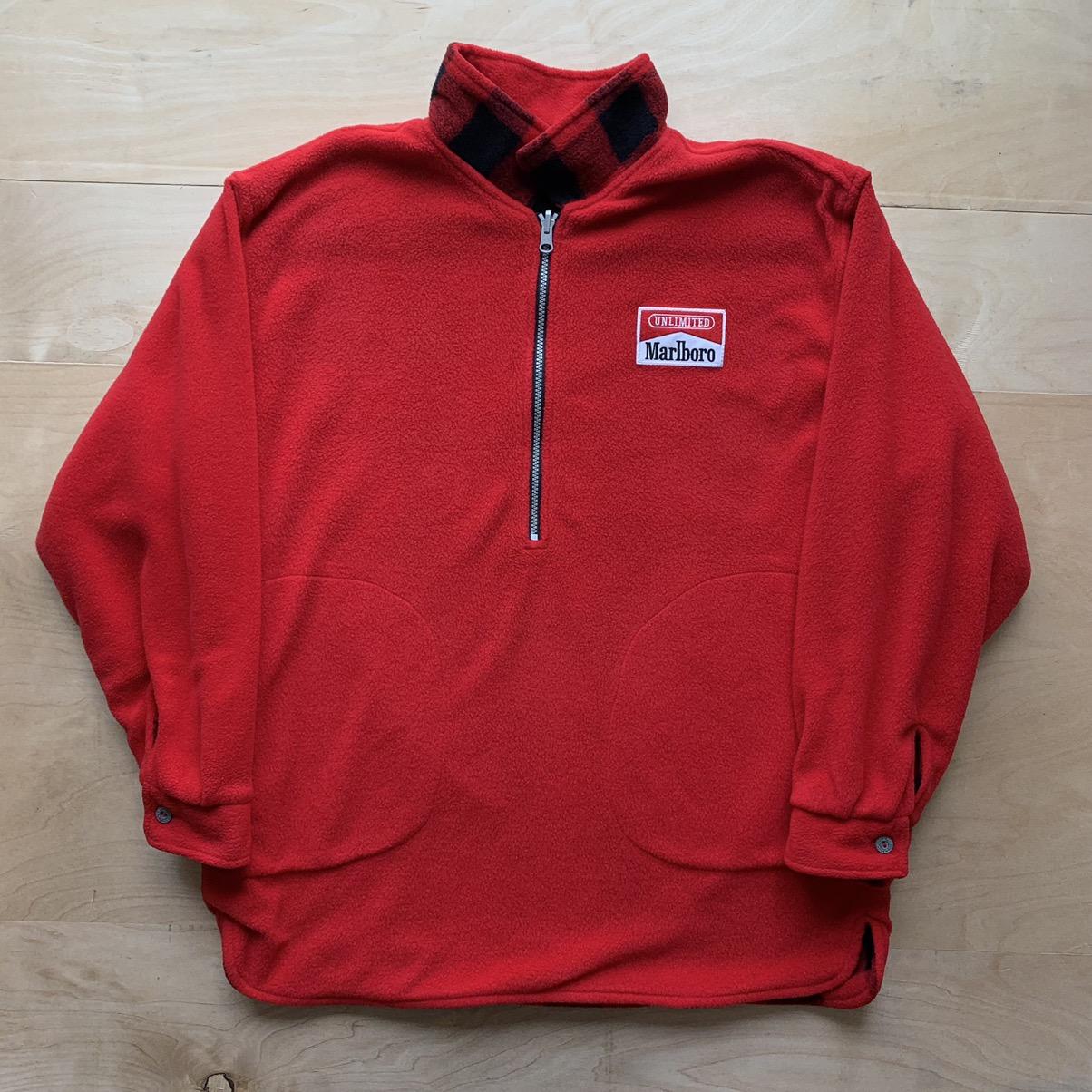 Marlboro Reversible Fleece Pullover Jacket
