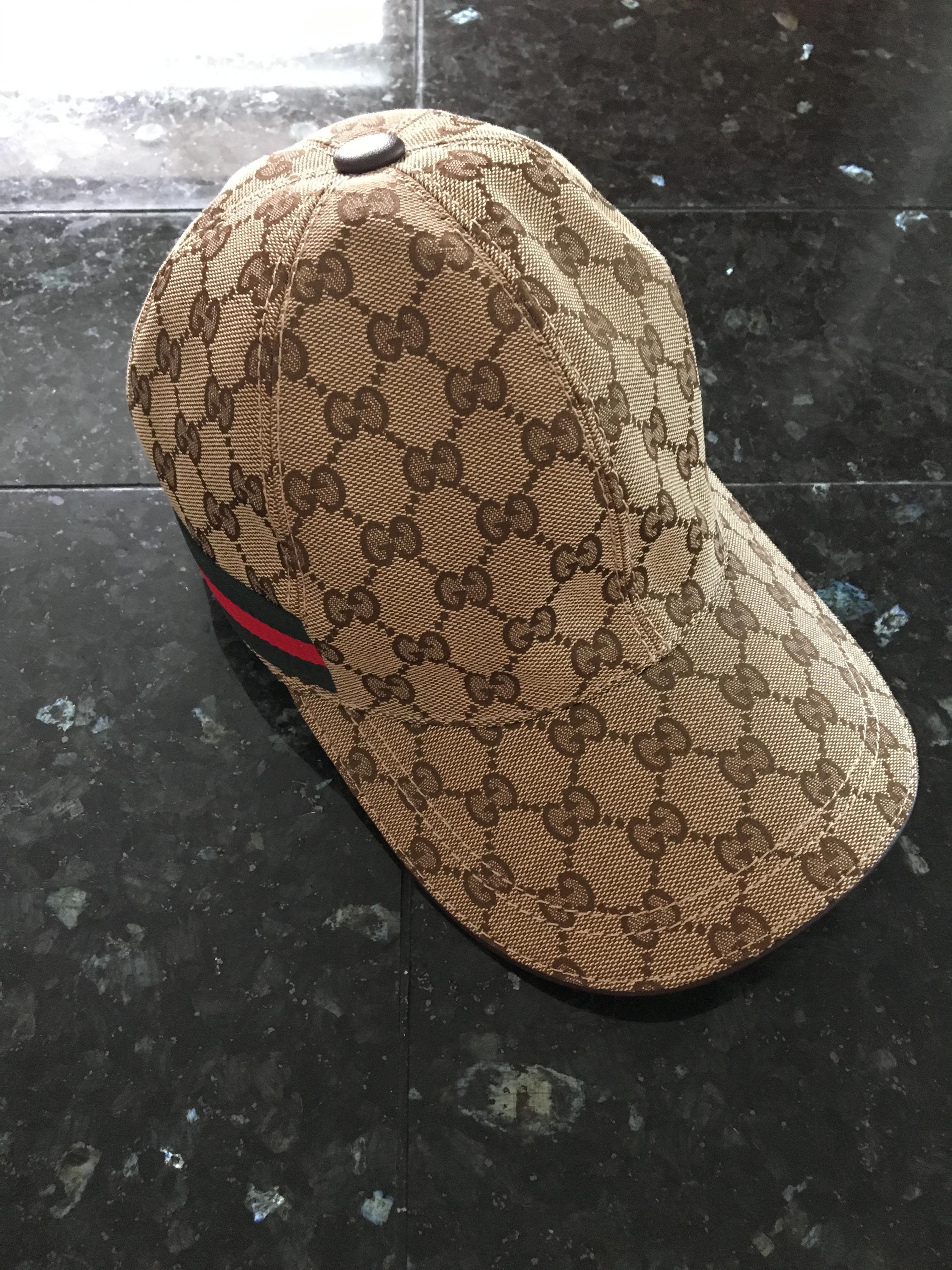 9f40591c1116a Gucci Gucci Beige Original Gg Canvas Baseball Hat With Web