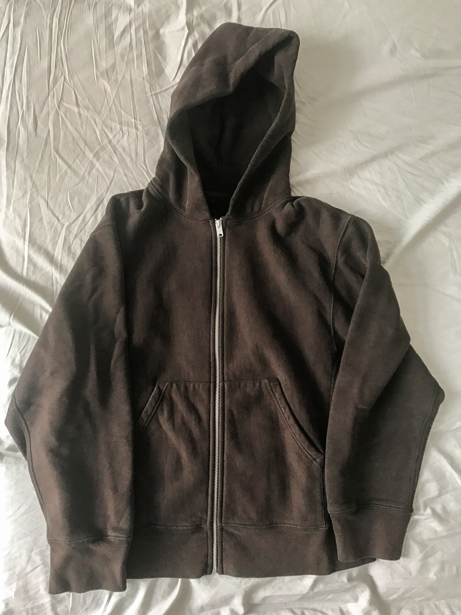 Yeezy Season 3 dk. brown zip up hoodie Oversized boxy fit size S