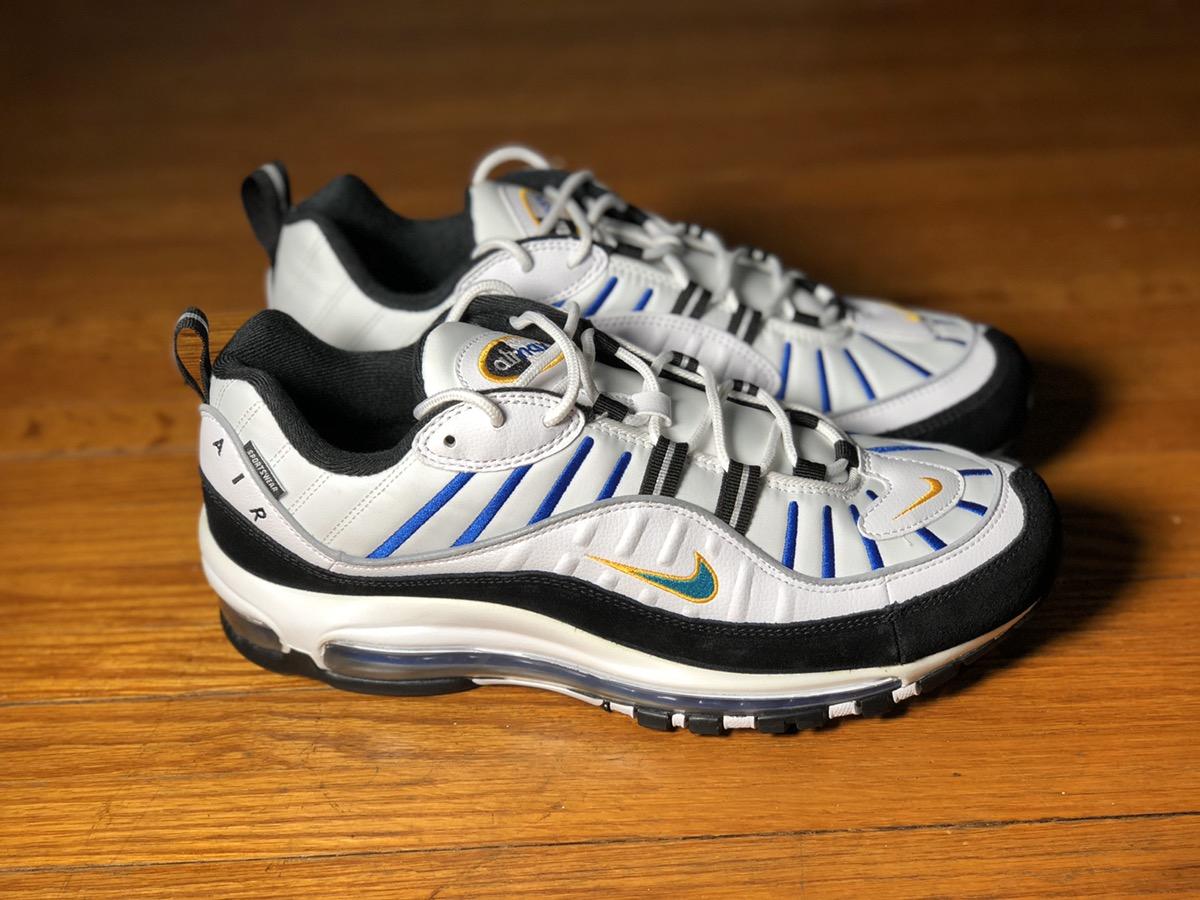 Nike Air Max 98 White Teal Nebula University Gold Grailed