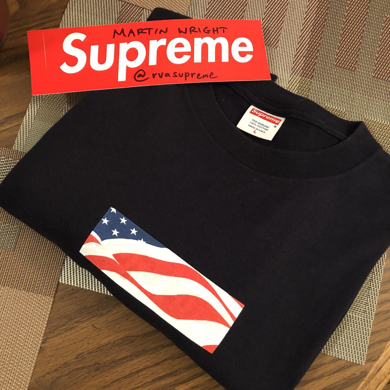 Supreme 9 11 Memorial Box Logo Tee