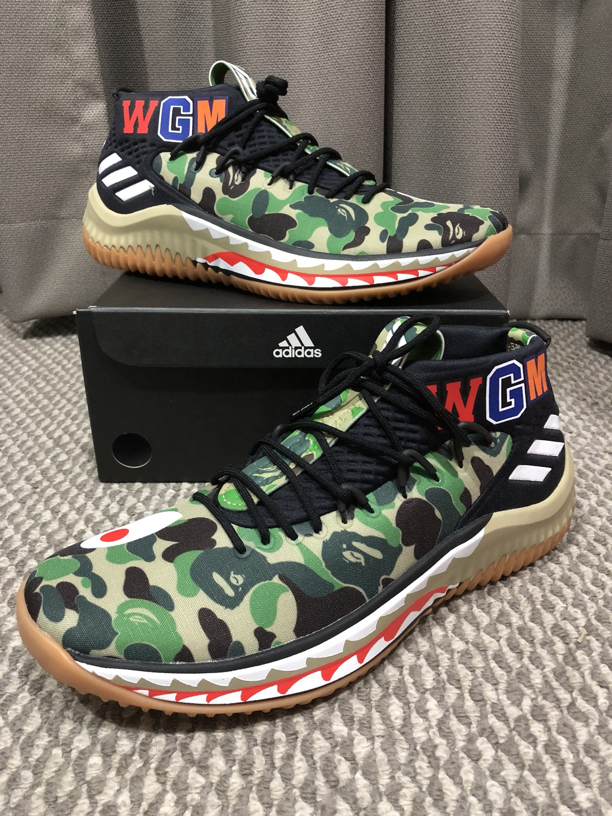 Adidas New Adidas X Bape Dame4 Damian Lillard Shoes Us9 5 Grailed