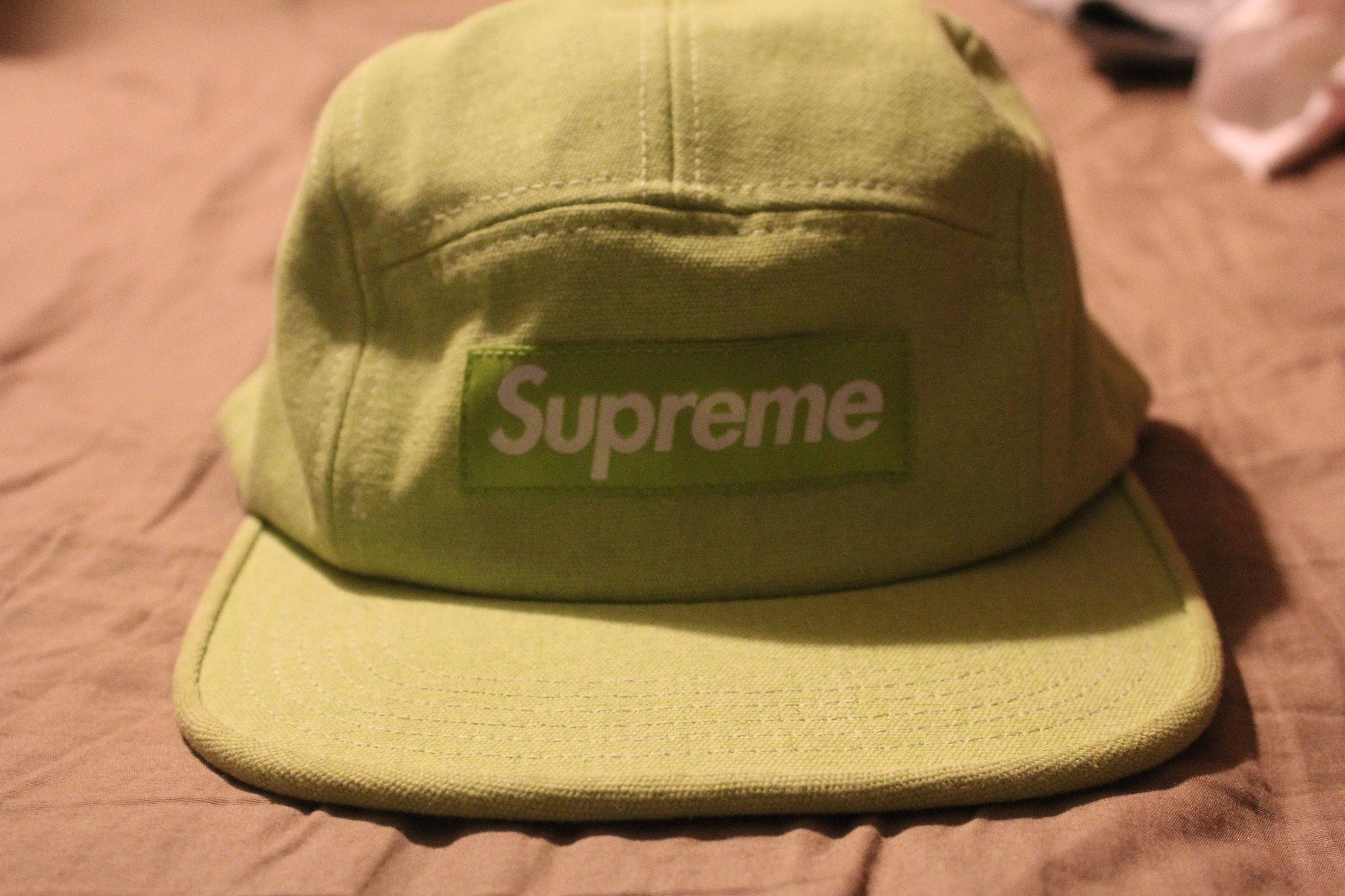 648df8304ec Supreme Supreme Stone Washed Canvas Camp Cap S S15 (Green) Size one size -  Hats for Sale - Grailed
