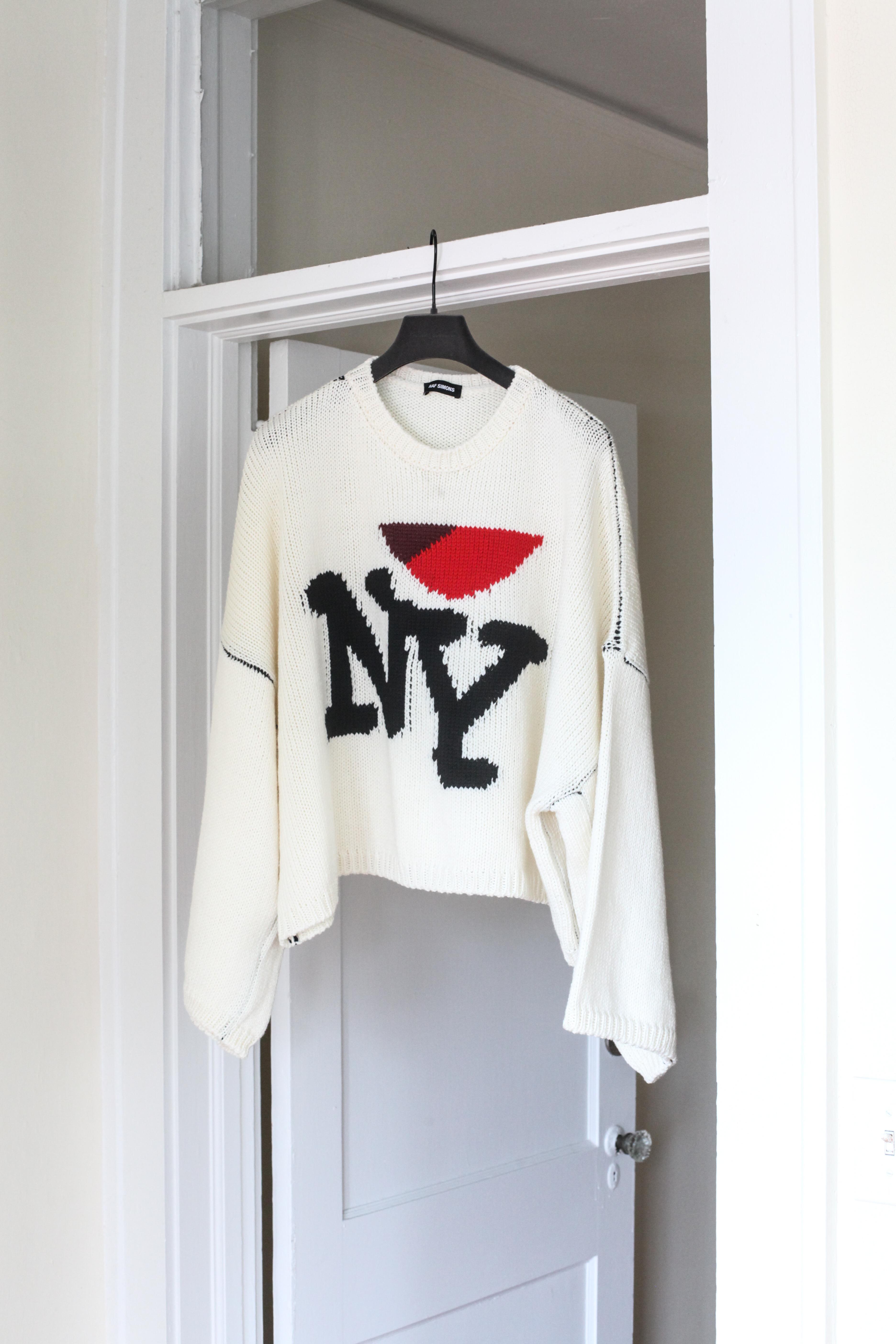 f934b3f1aab7a Raf Simons Raf Simons Runway I Love New York Sweater   Grailed