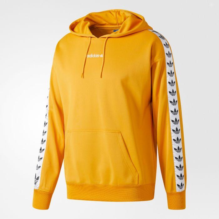 adidas originals tnt trefoil tape pullover hoody yellow