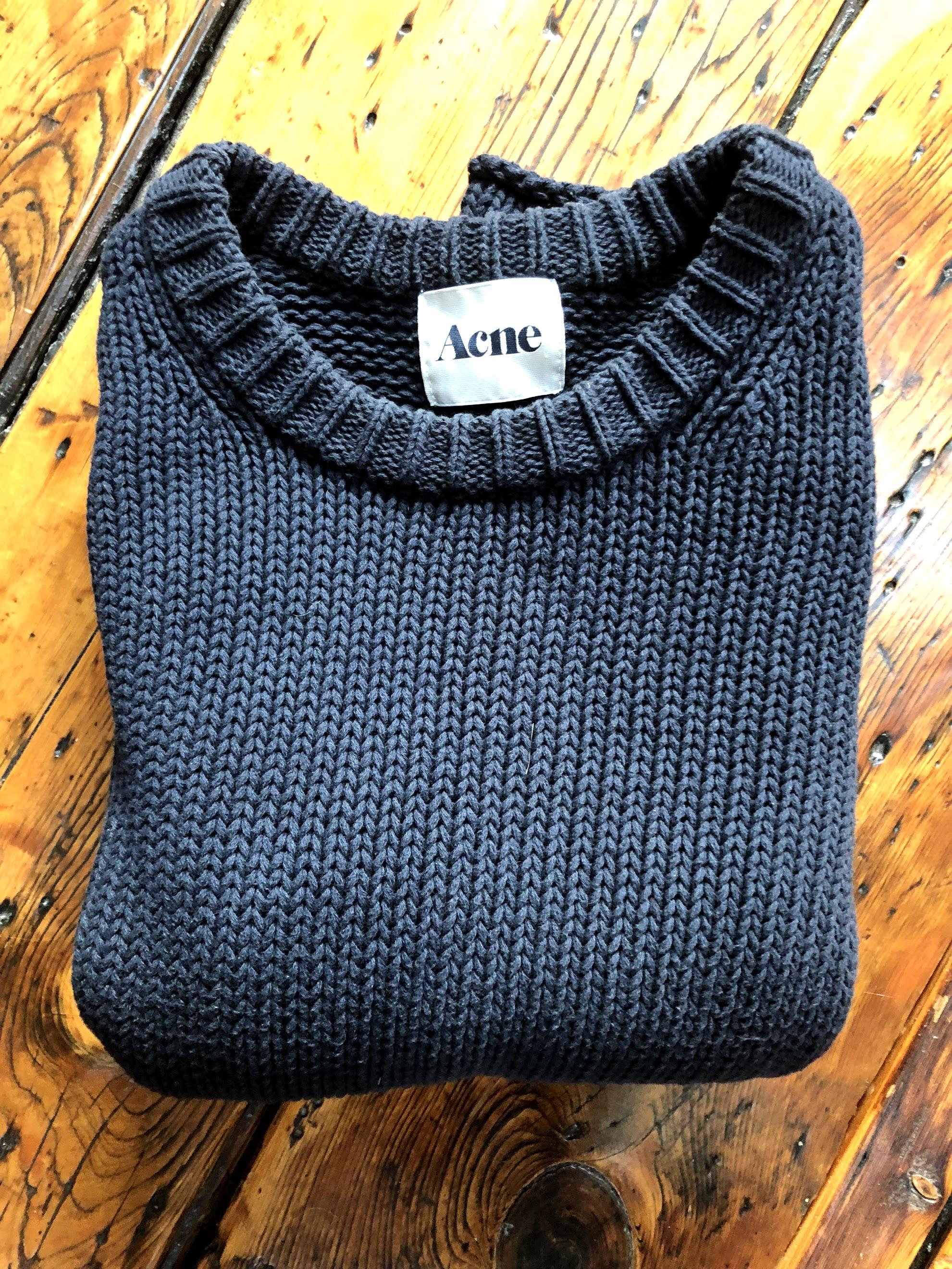 d18ede2fbb Acne Studios Helsinki Chunky Knit Navy Blue Sweater SS12 Size m ...
