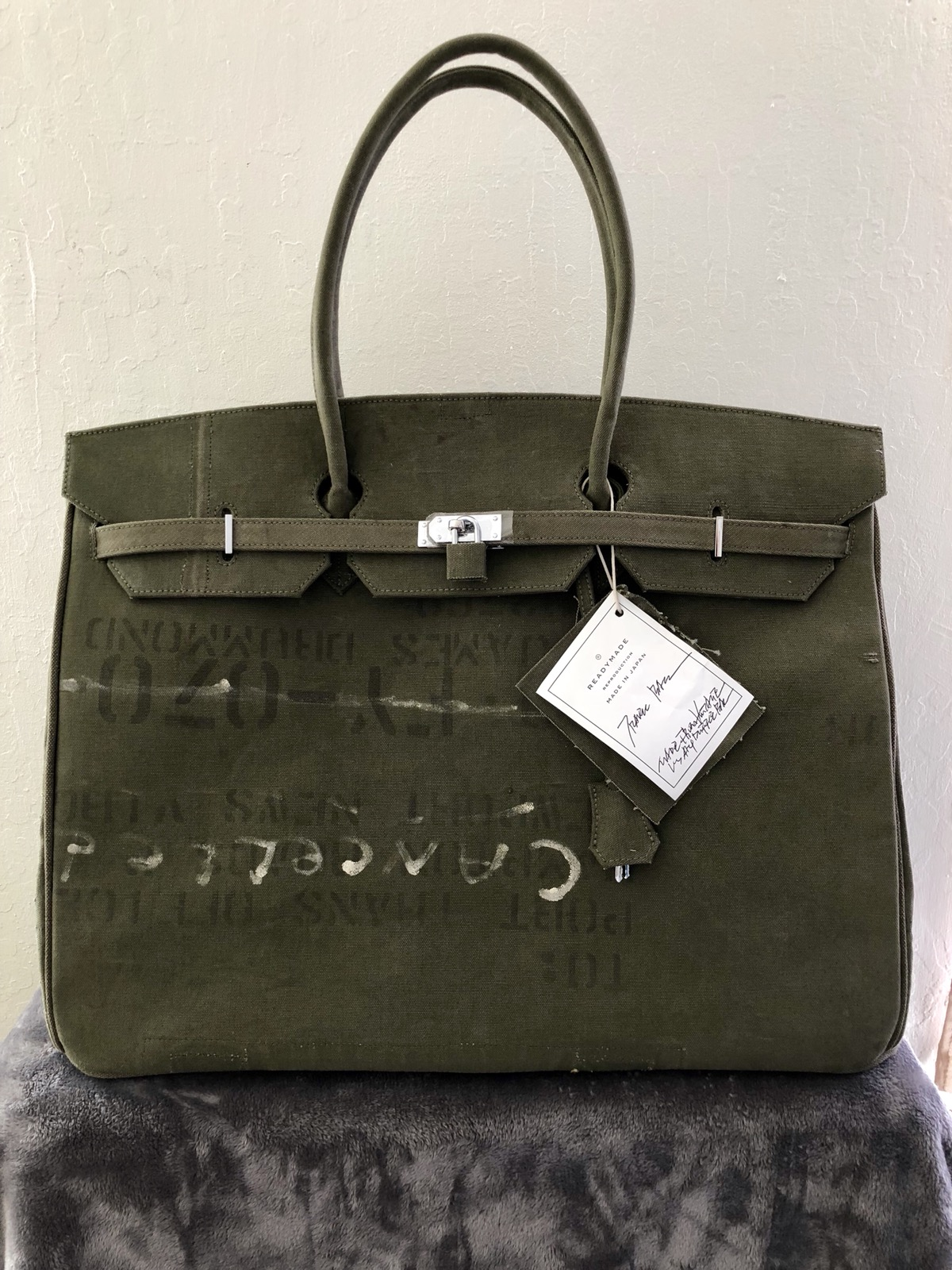 READYMADE Readymade Vintage US Army Travel Hermès Birkin Bag 50cm Made In  Japan Size one size - Bags   Luggage for Sale - Grailed 4760cf793db83