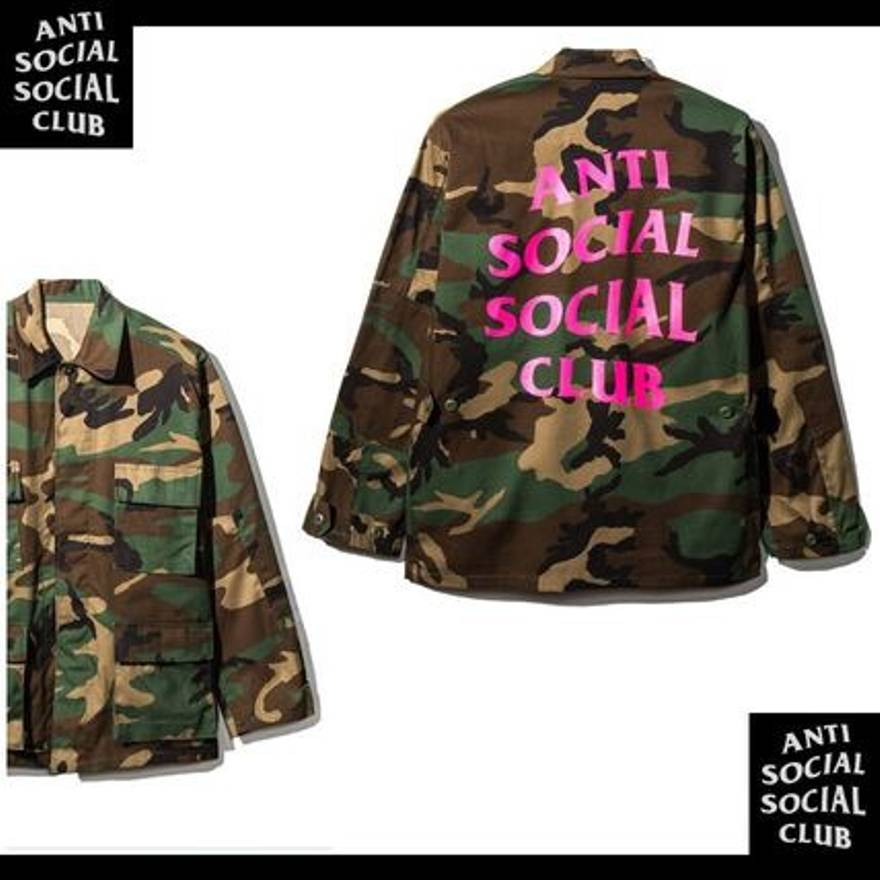 3d2ef2354c57 Alpha Industries New SS18 Anti Social Social Club ASSC logo BDU camo jacket  sz XXL Supreme kiTh Bape Size xxl - Light Jackets for Sale - Grailed