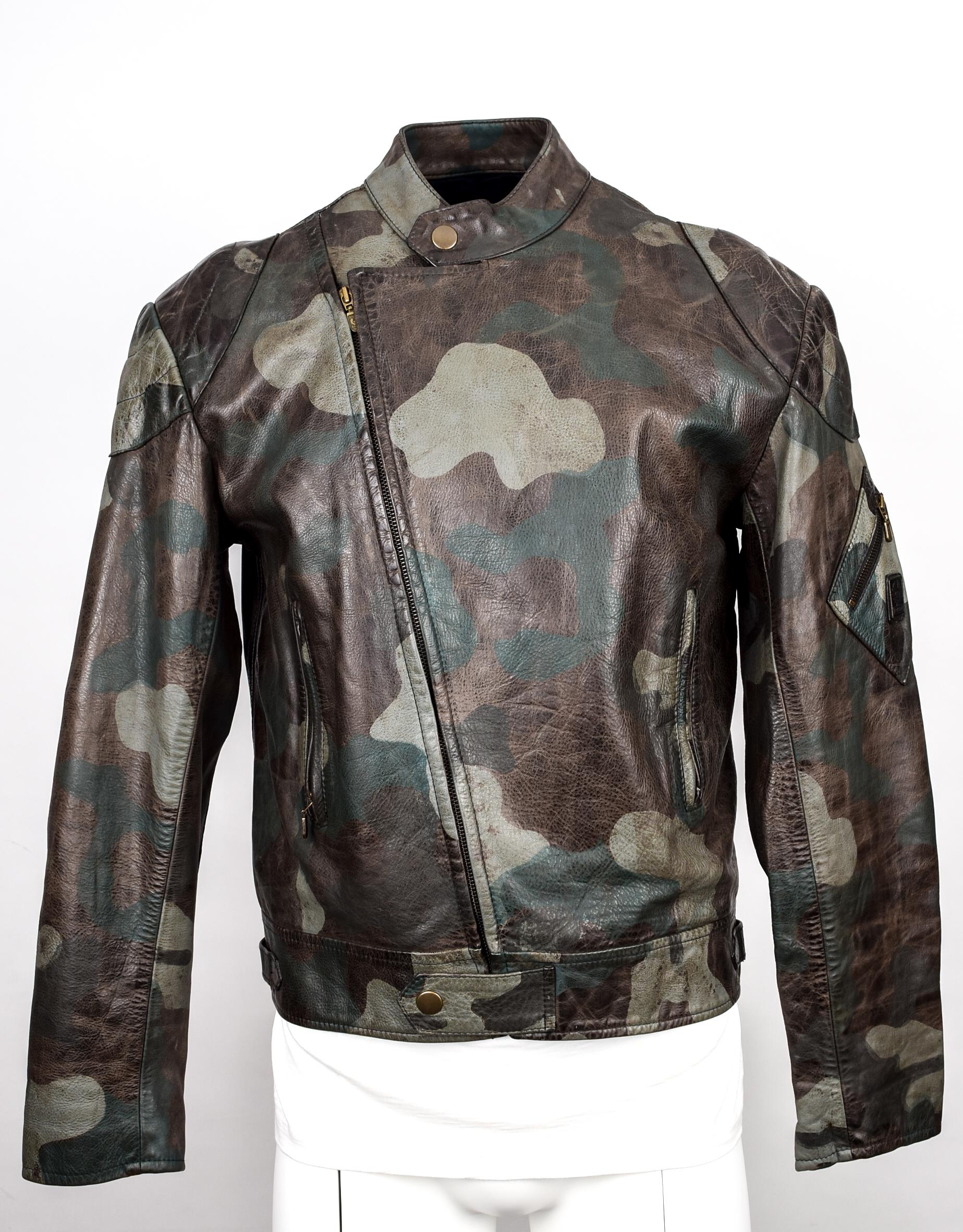 f52f6da3aaafb Belstaff Ultra Rare Belstaff Leathermaster Jacket Camouflage Camo ...