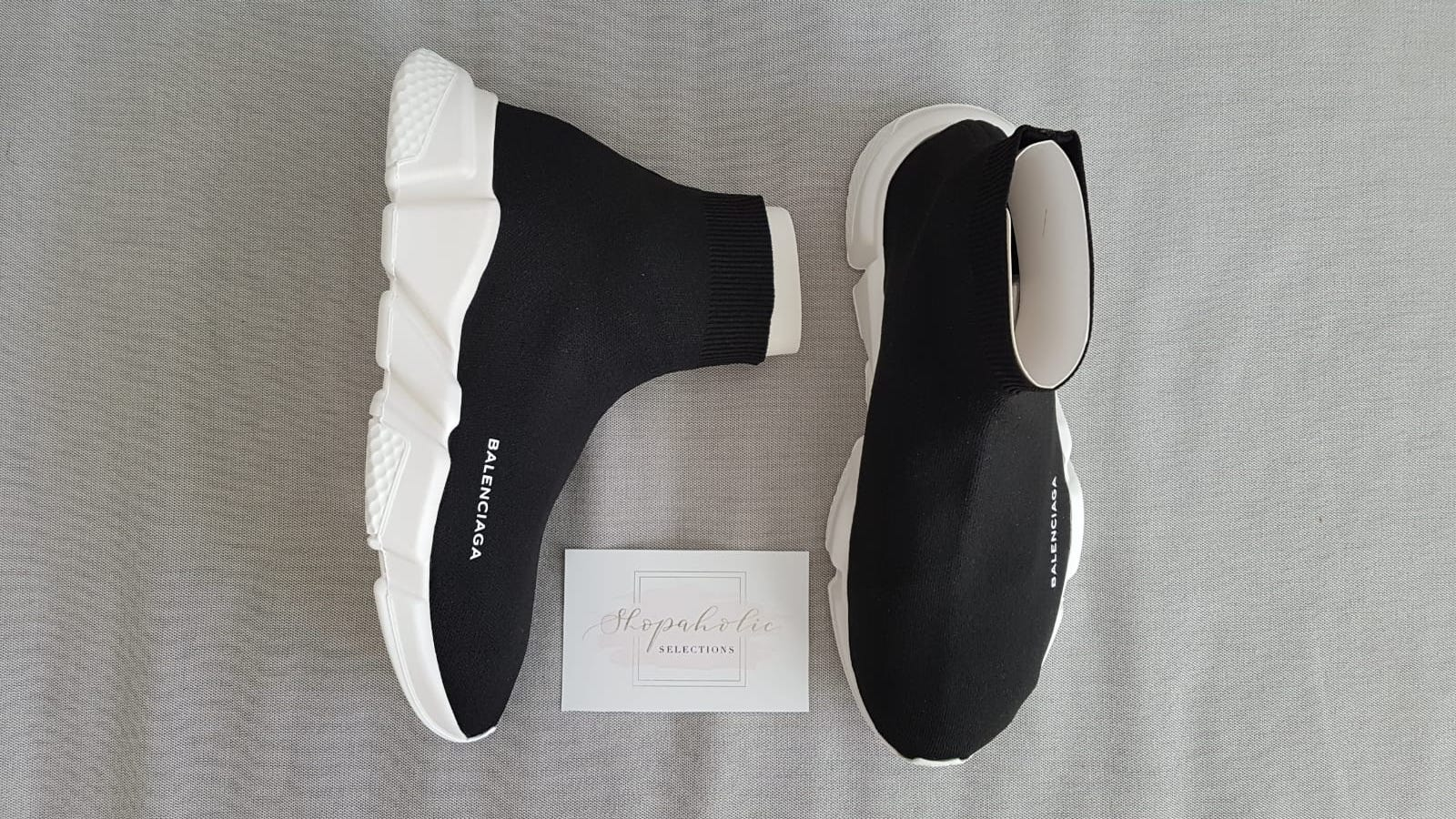 d3dad8f14016 Balenciaga BALENCIAGA Balenciaga Speed Trainer Black White STYLE 458653 -W05G0-1000 Size 10 - Hi-Top Sneakers for Sale - Grailed