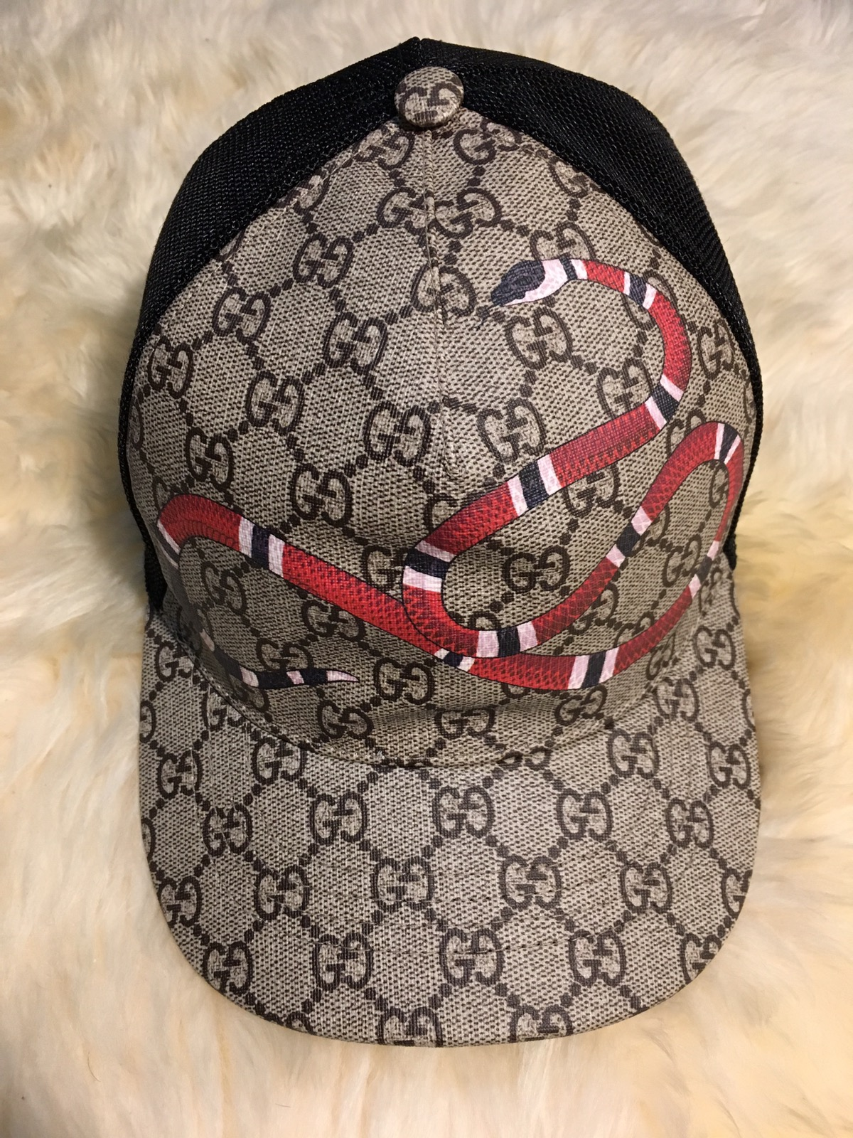Gucci XL Snake Print Hat Size one size - Hats for Sale - Grailed 337b9a83d88a