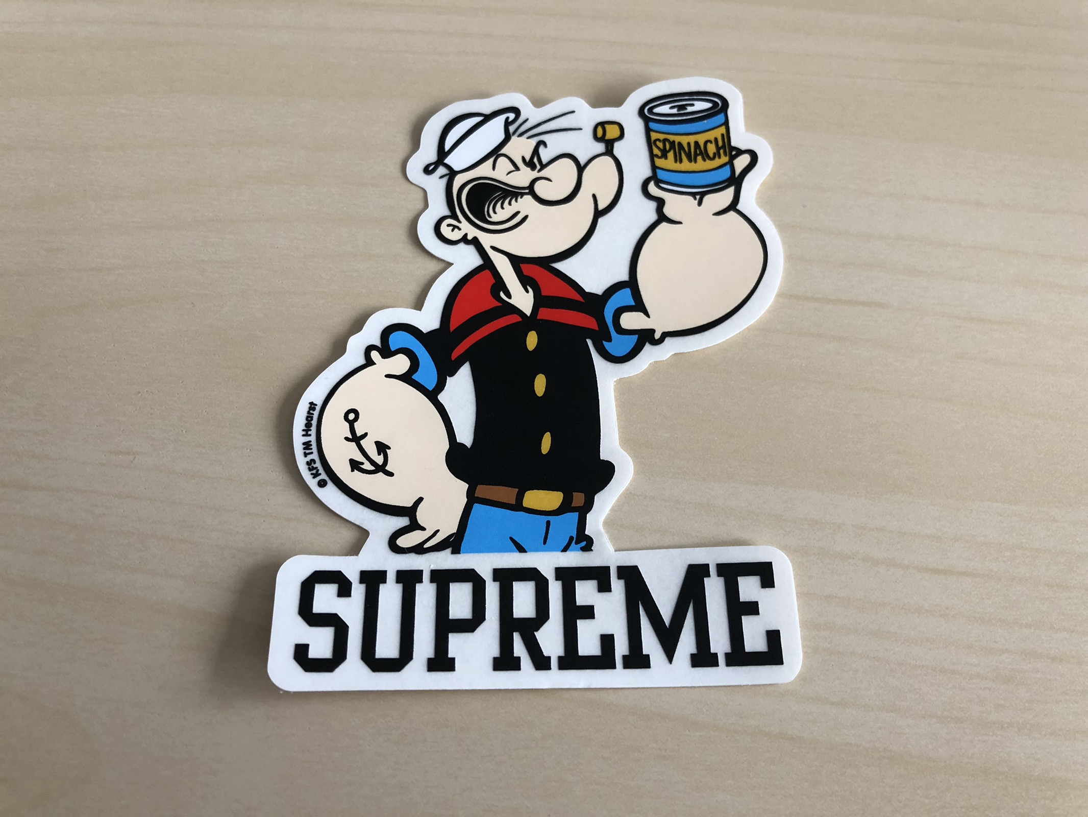 Supreme x popeye sticker