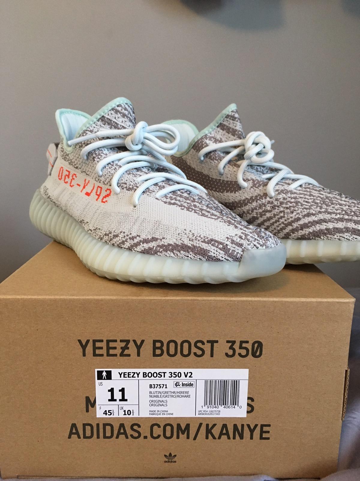 396292000 Adidas Kanye West Adidas Yeezy Boost 350 V2 Blue Tint Size 11