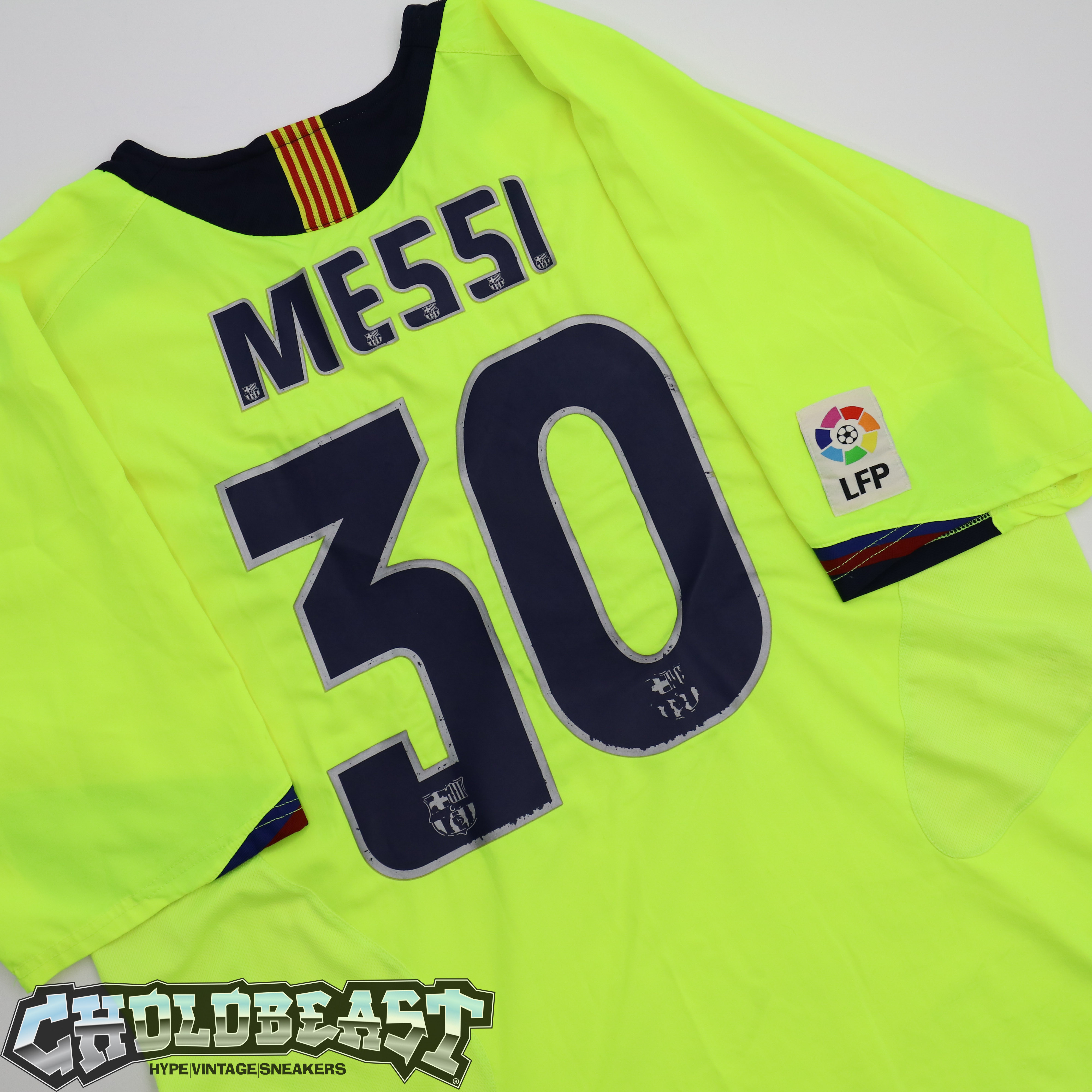 new product a8350 f15a6 VTG 2005 Barcelona Neon Messi #30 amateur rookie soccer futbol jersey