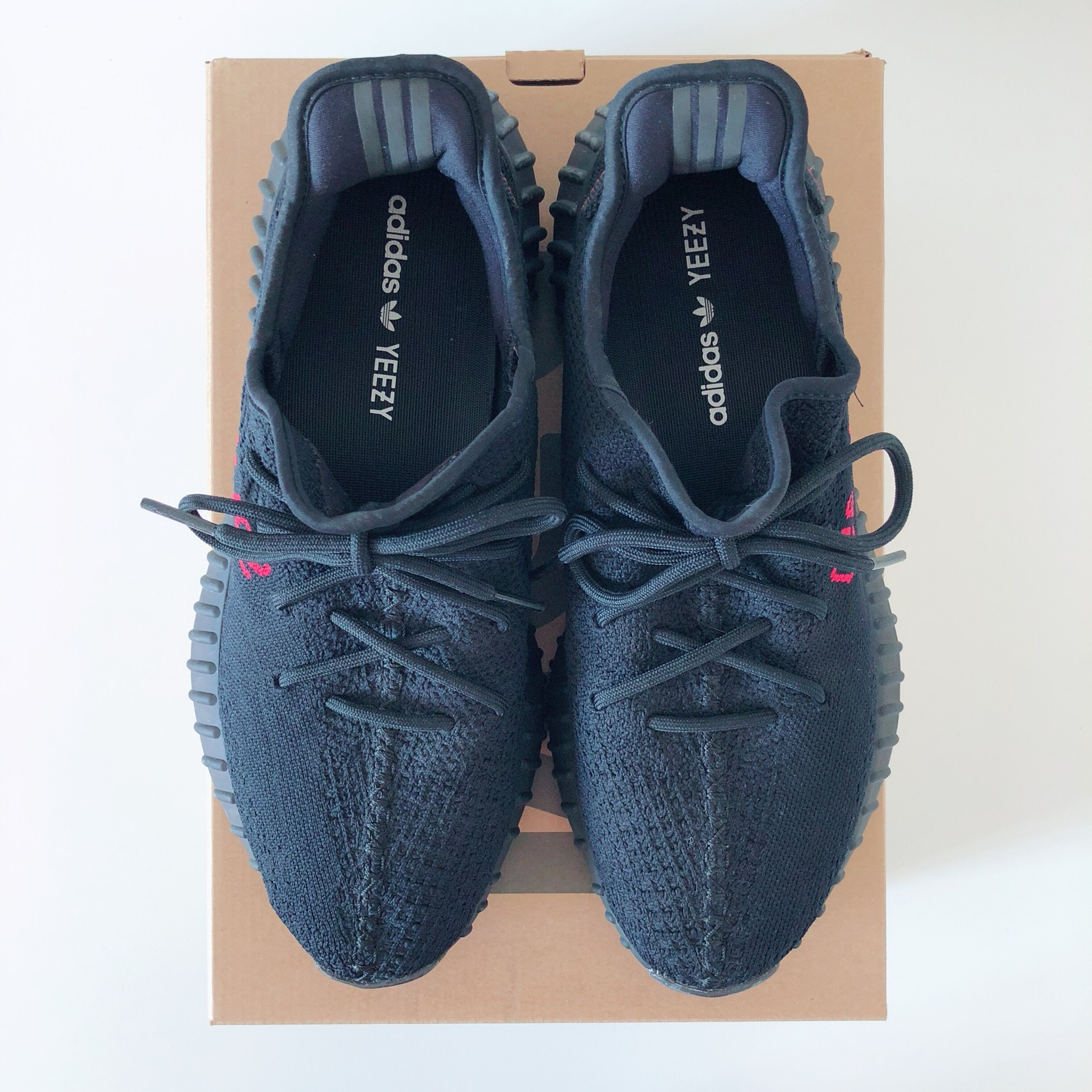 f0f75dfbec35 Yeezy Boost Adidas Yeezy Boost 350 V2 Black Red Bred Size 11.5 - Low ...