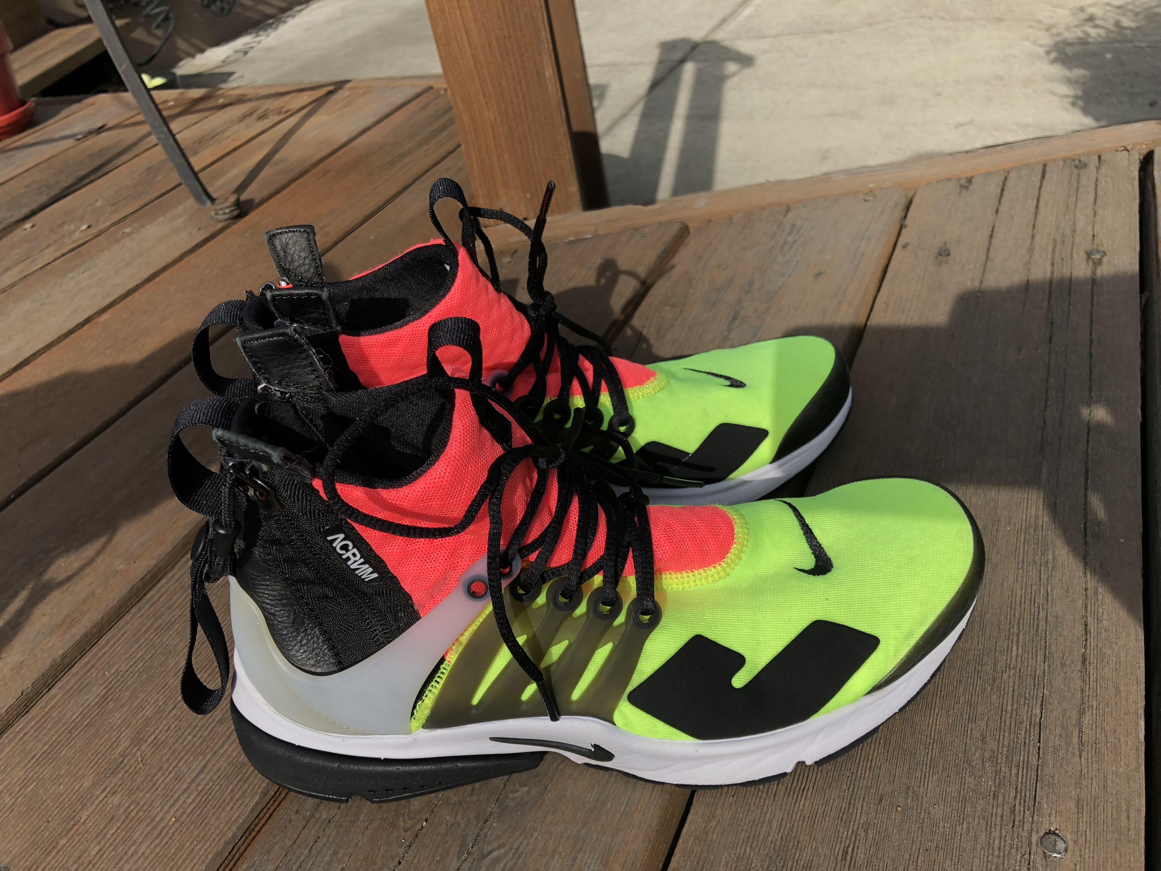 reputable site 9dd6b 83dc2 Acronym × Nike ACG ×. Nike ACG NIKE AIR PRESTO MID ACRONYM WHITE BLACK HOT  LAVA VOLT