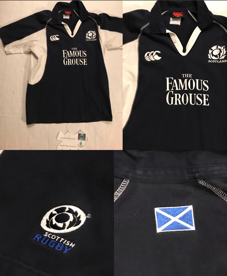Vintage Vintage Scottish Rugby Polo Jersey Scotland Size L Polos