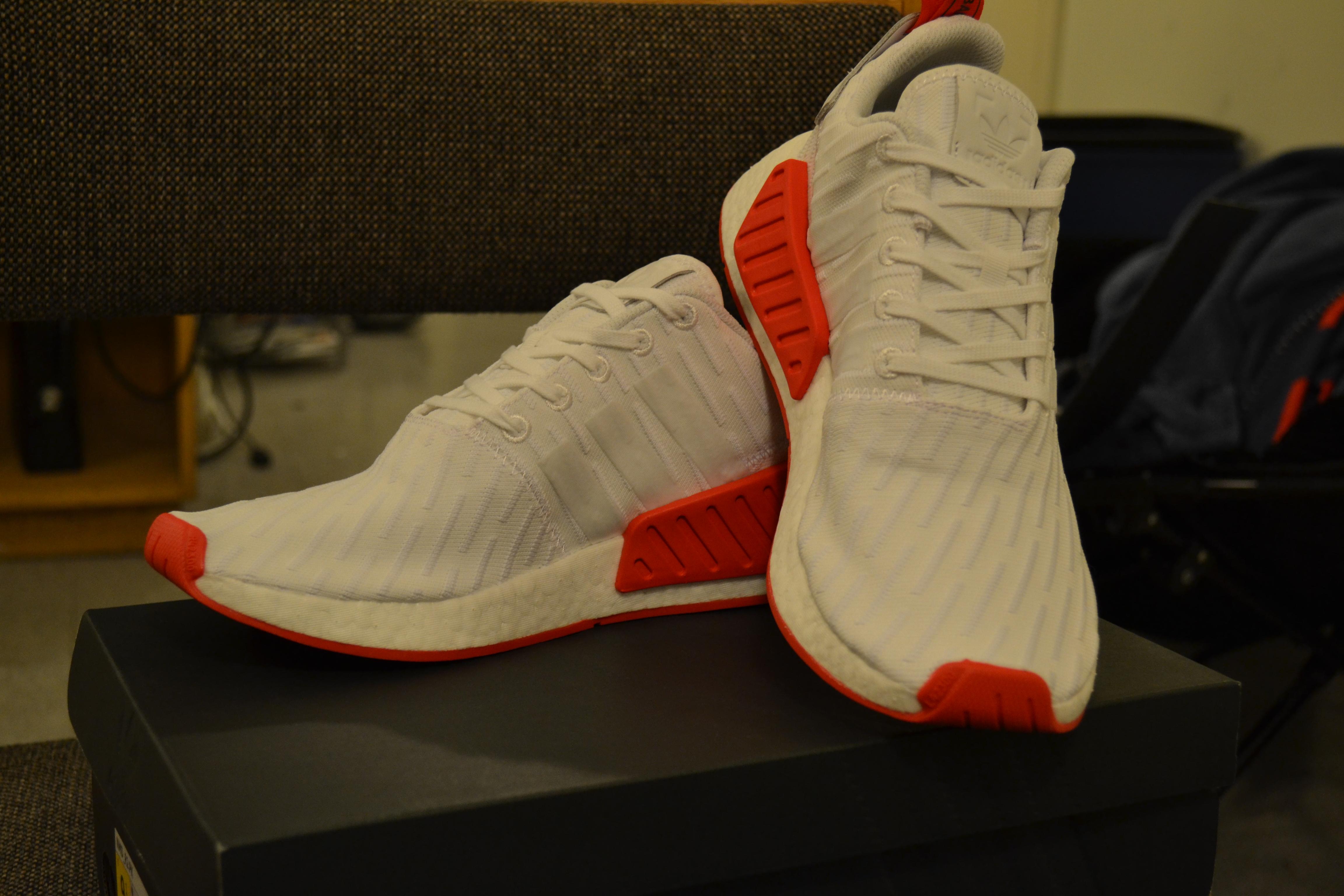 Adidas Adidas NMD R2 White Core Red