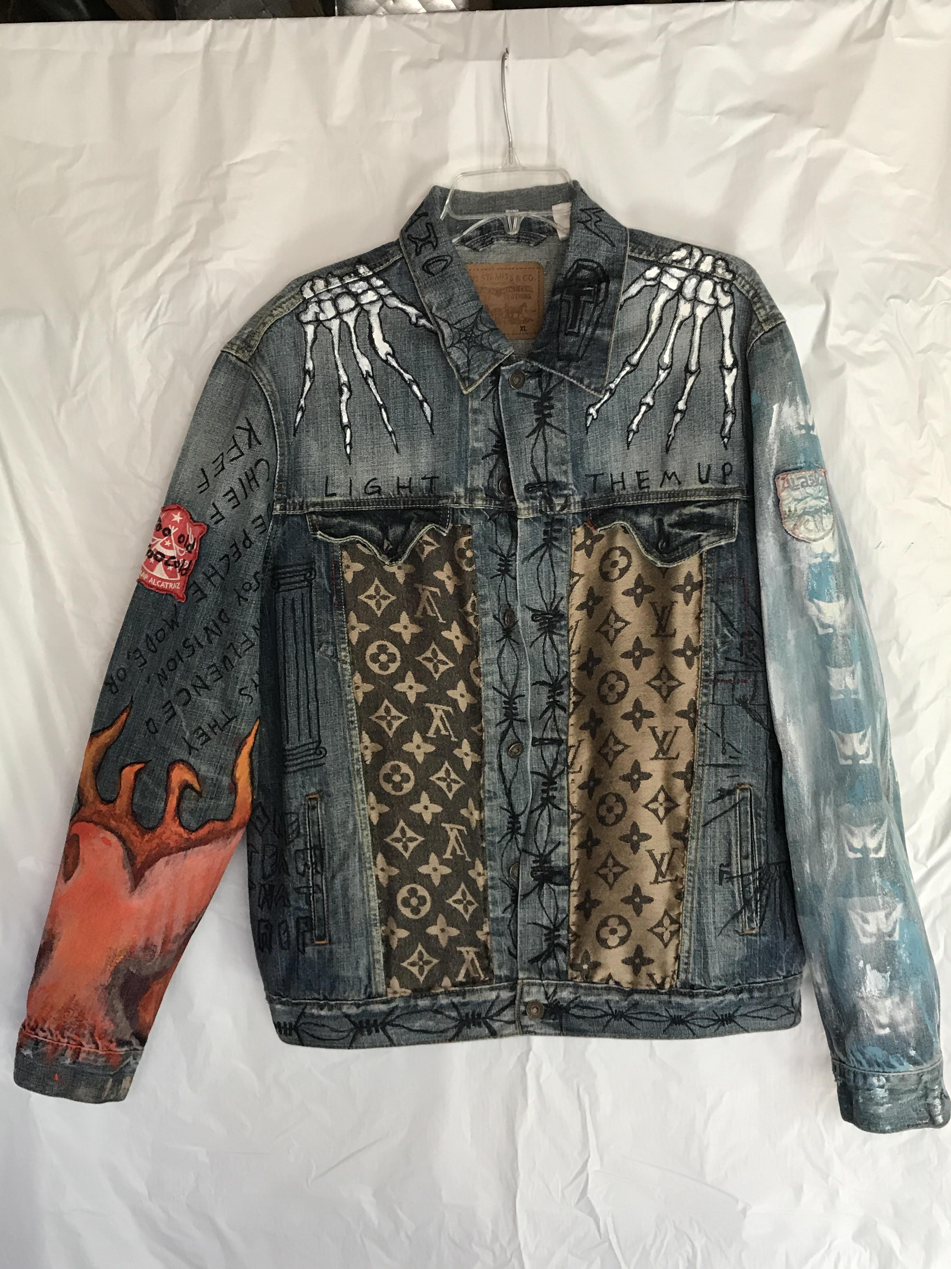 7d9e6a28cf21 Custom Hand-Painted Denim Jacket Size xl - Denim Jackets for Sale ...