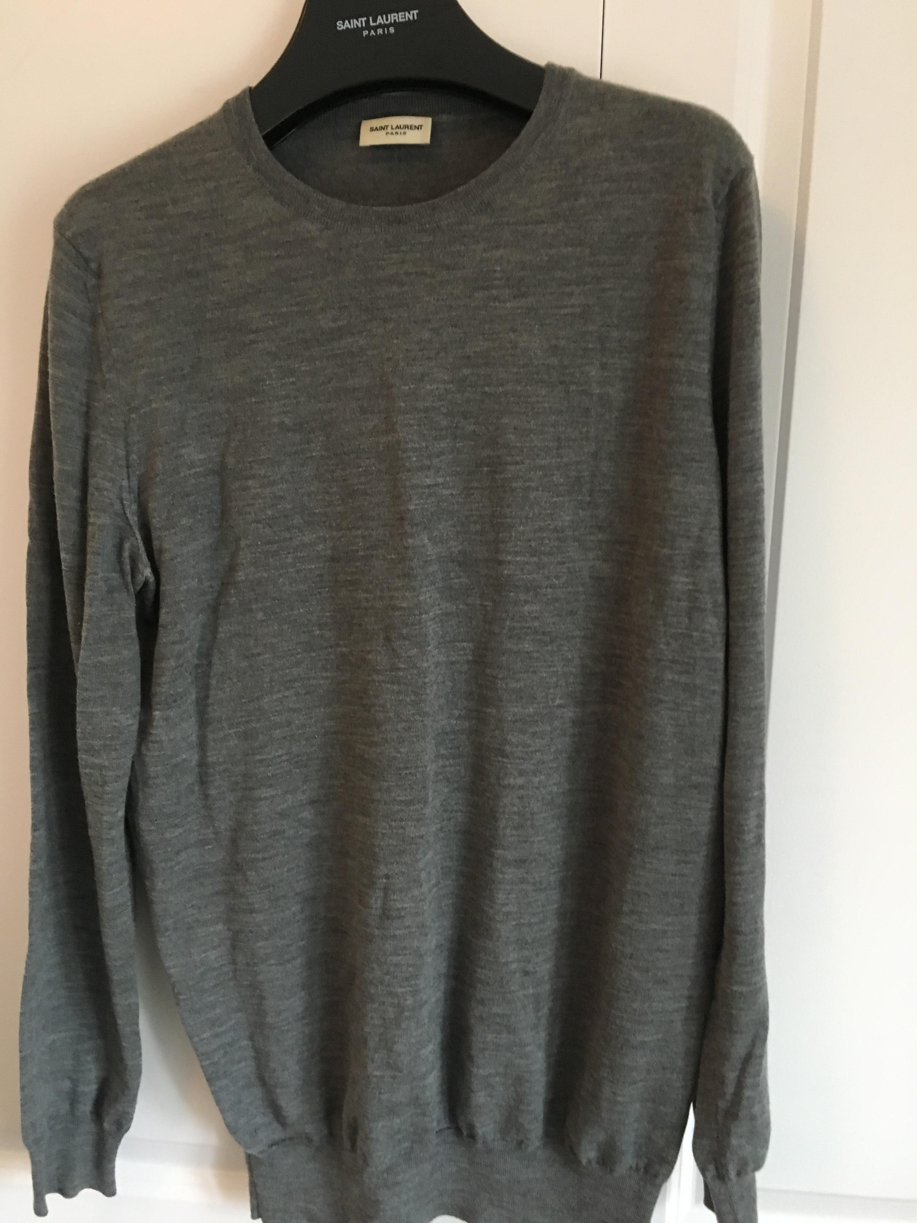 9c6be1debe2522 Saint Laurent Paris Classic Merino Crewneck Sweater | Grailed