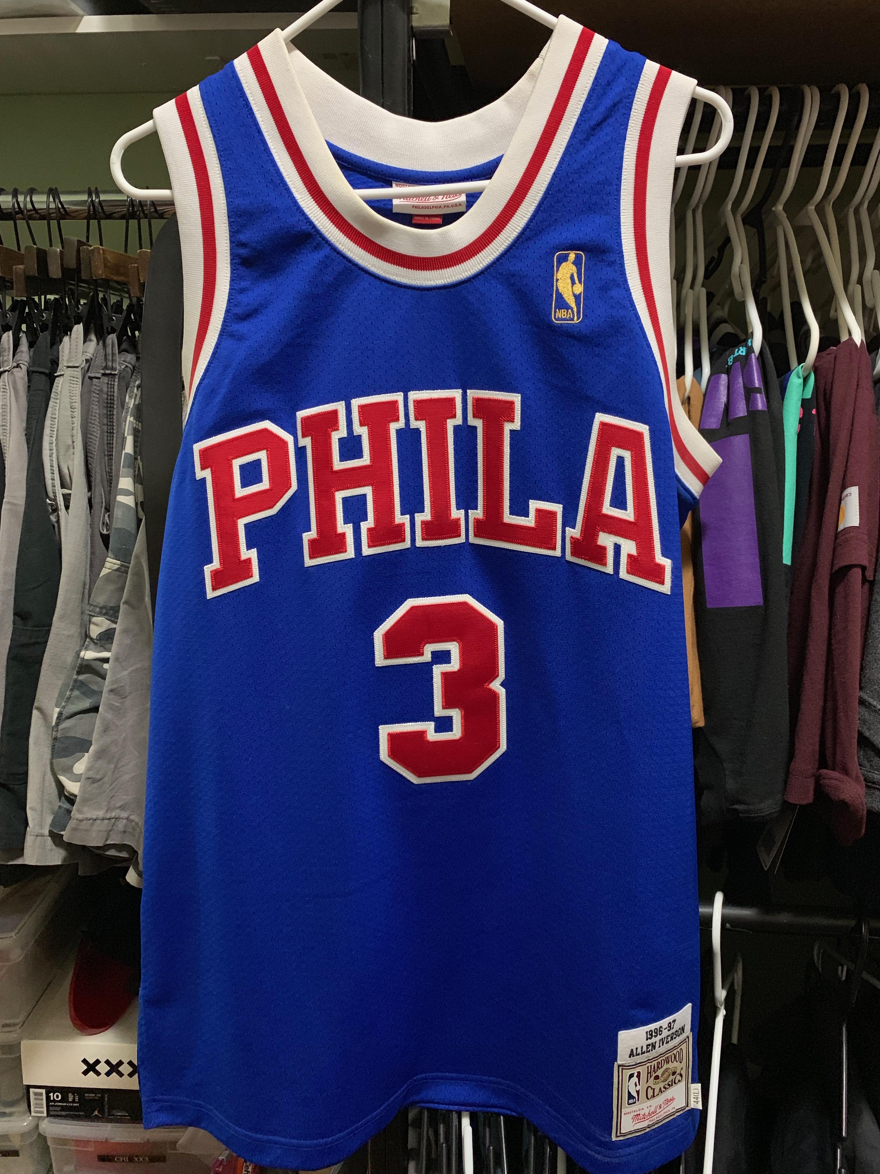 wholesale dealer 4b535 e1676 M&N Authentic Allen Iverson Phila jersey L 44