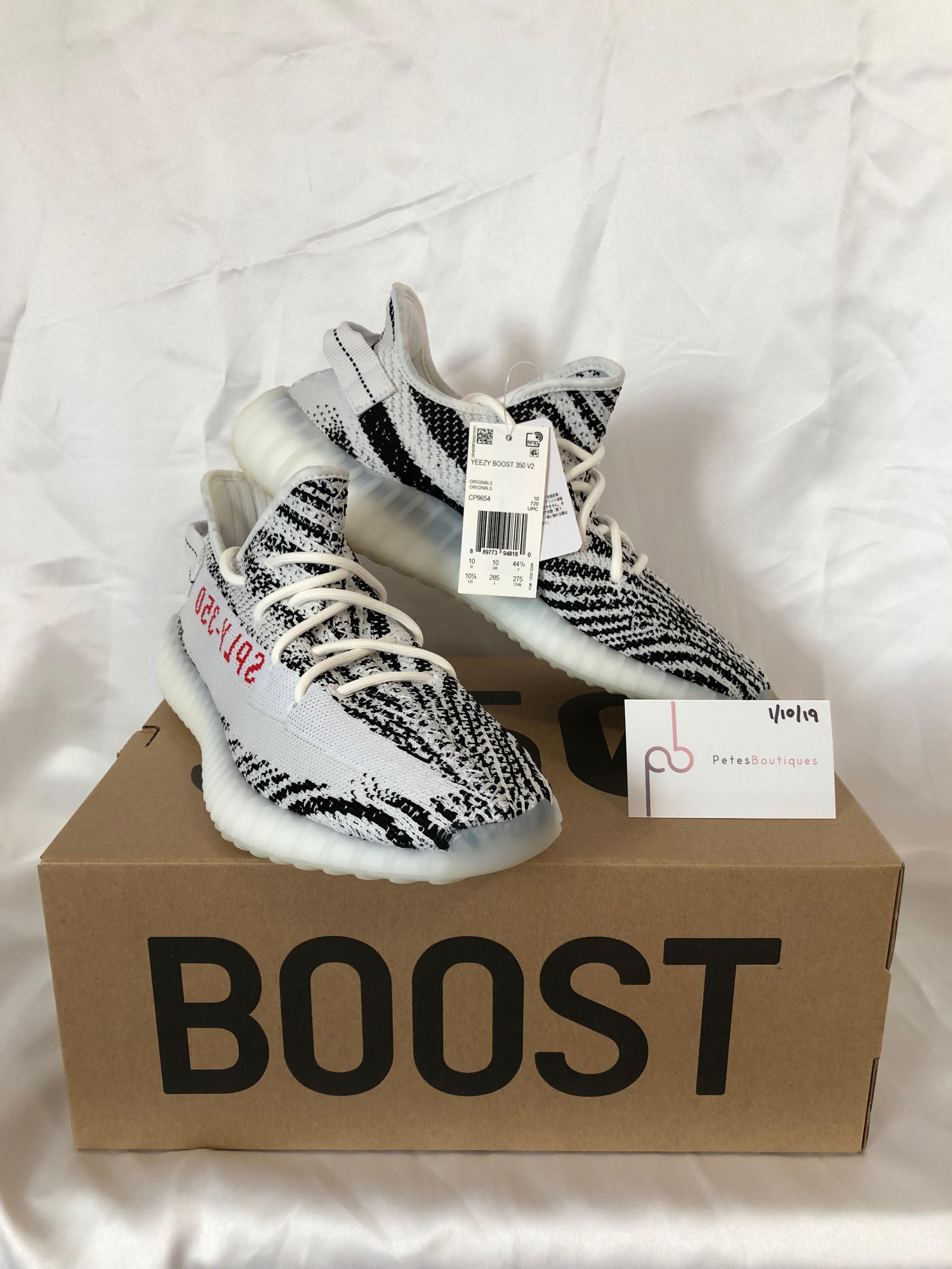 "f2abe9e6d Kanye West × Adidas Kanye West × Yeezy Boost. Yeezy Boost 350 V2 ""Zebra"".  Size  US 10.5   EU 43-44. 11"