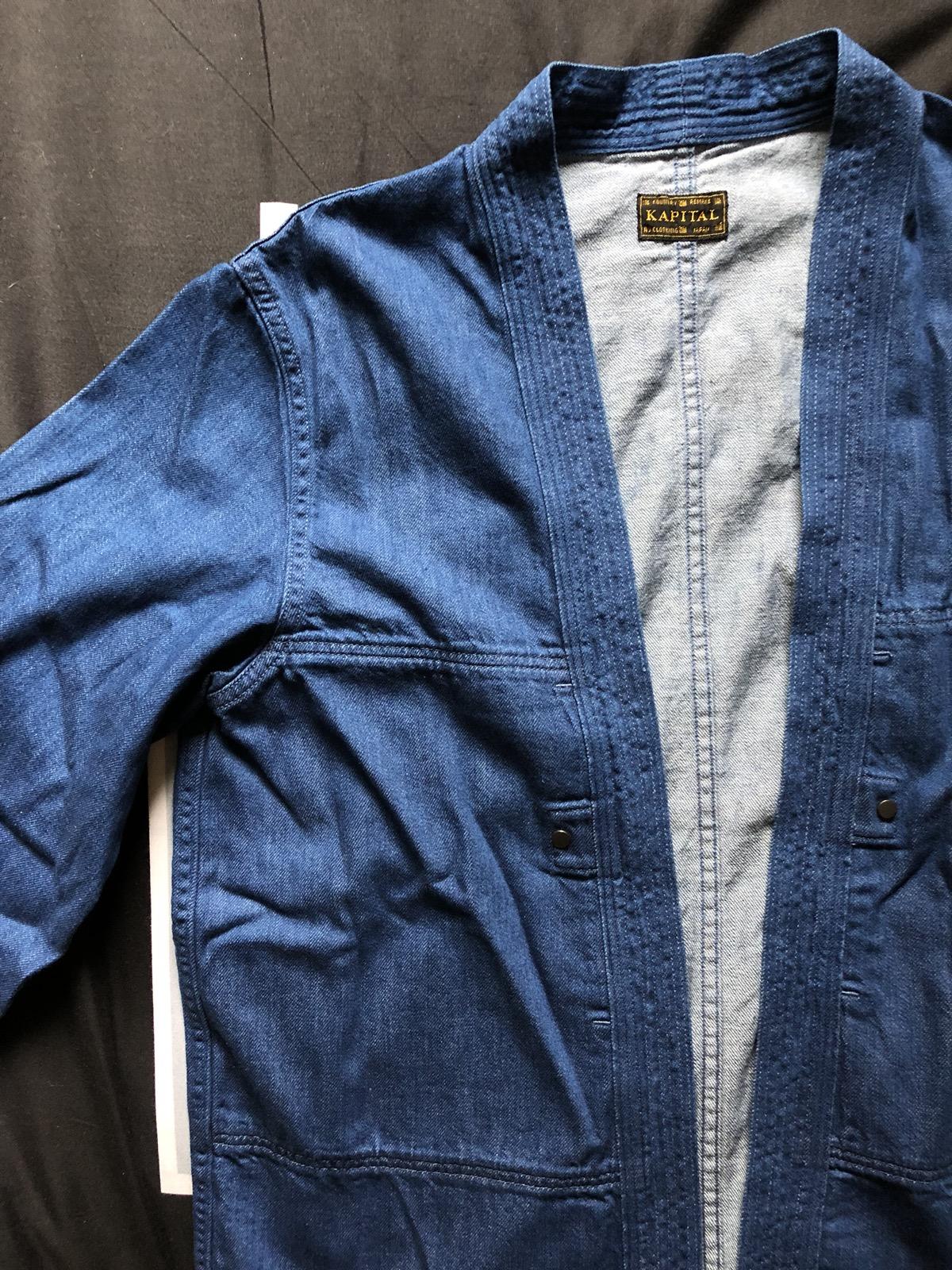 e8f75877654 Kapital 8oz Denim Aviator Kakashi Shirt Indigo Final Drop