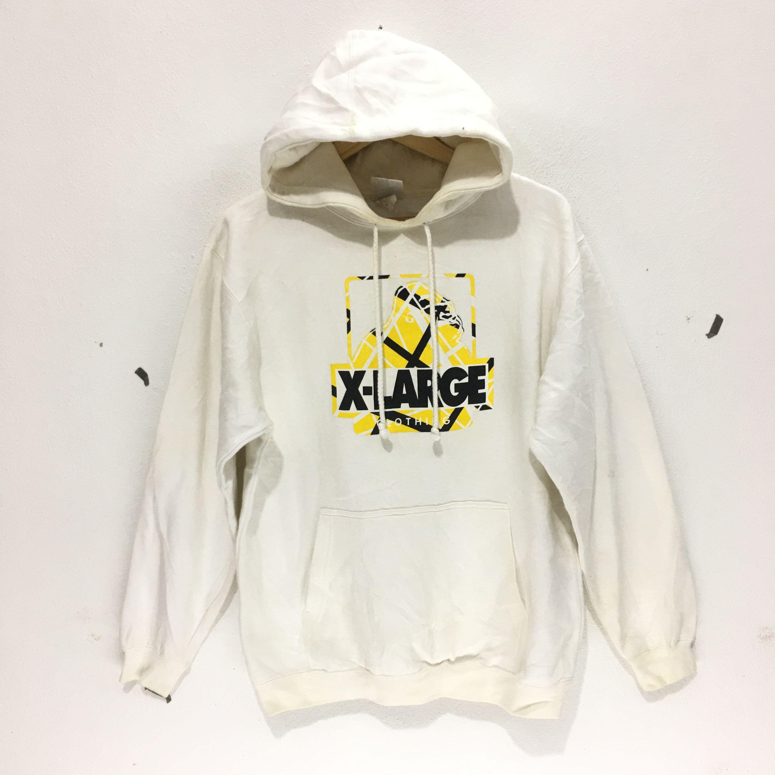 527b89b3aa9 X Large Vintage XLARGE CLOTHING Skateboard Ape Camo Logo White ...