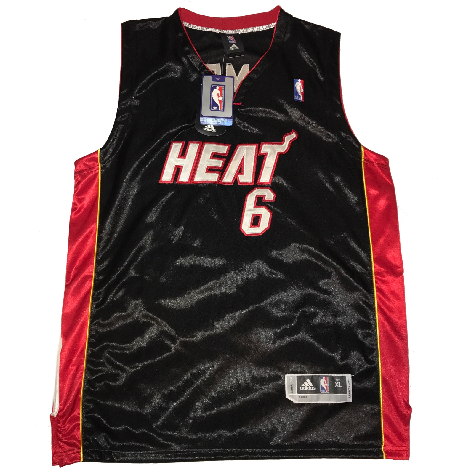 best sneakers d1d9f 6948e Lebron James Miami Heat Throwback NBA Authentic Black Away Jersey Size Xtra  Large New with tags
