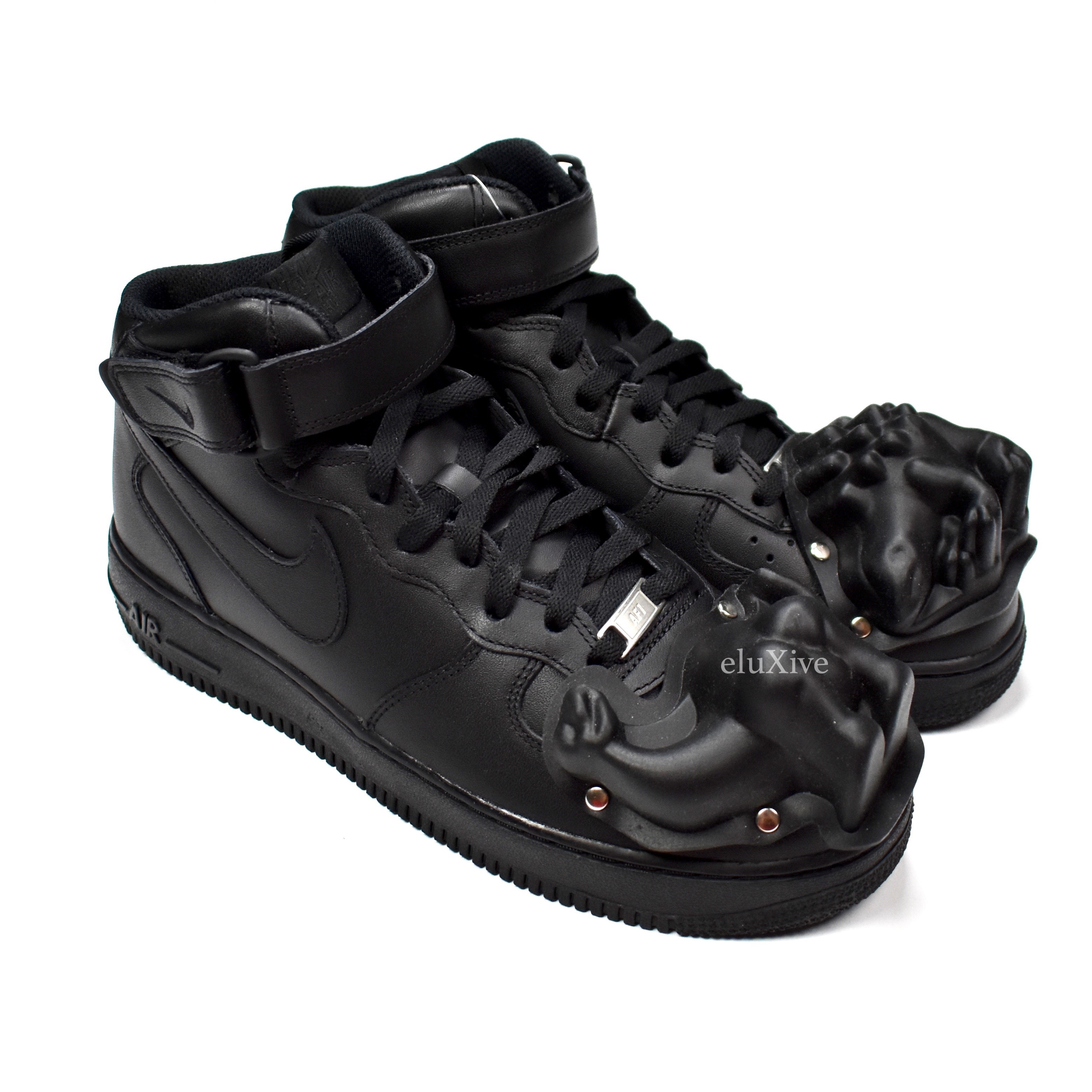 online store d7f36 90e68 CDG Air Force 1 Mid Dino Black DS