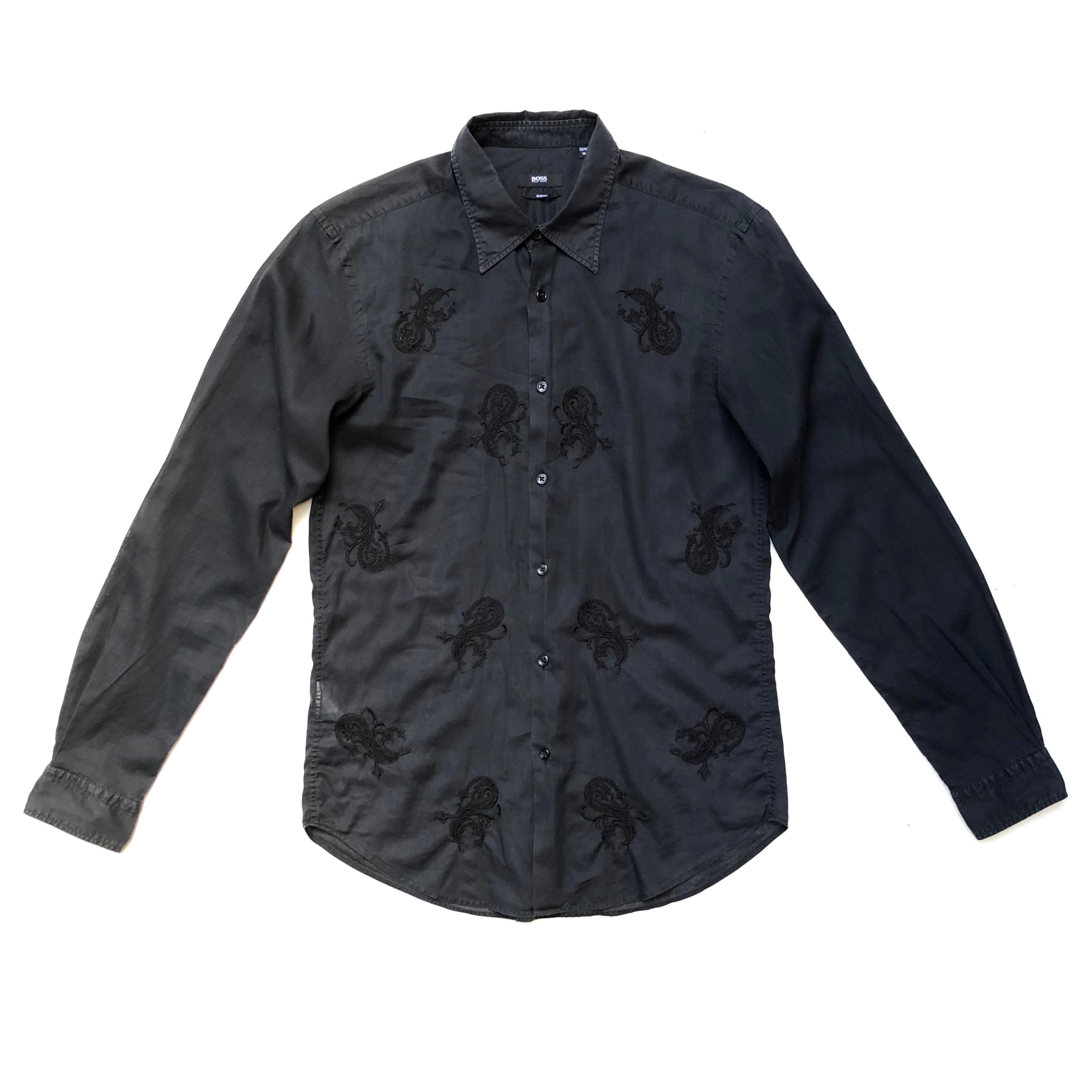 e2f24a9b Hugo Boss Hugo Boss!!! Wonderful 'hugo Boss' Men's Black Dress Shirt ...