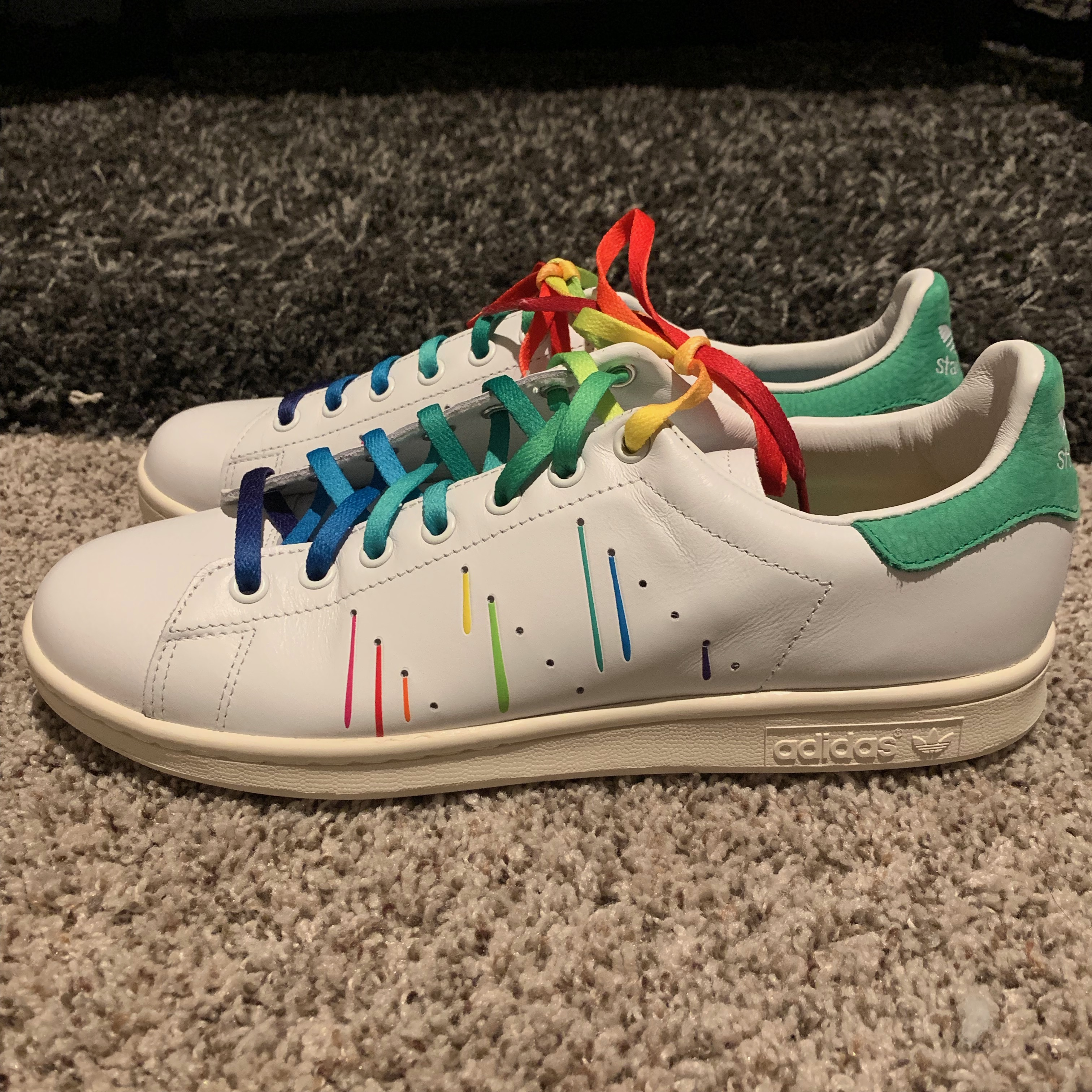 9065a61d724f Adidas Adidas Stan Smith Gay Pride Shoes White Rainbow