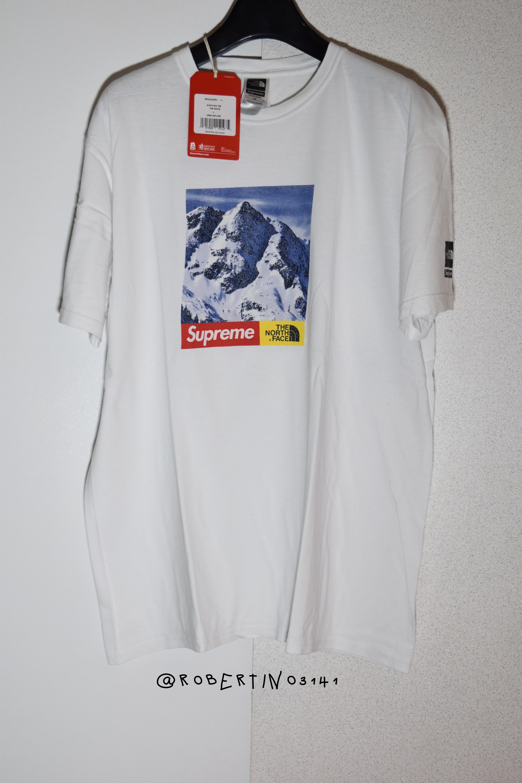 496ecb43a Supreme x The North Face Mountain White T-Shirt Tee