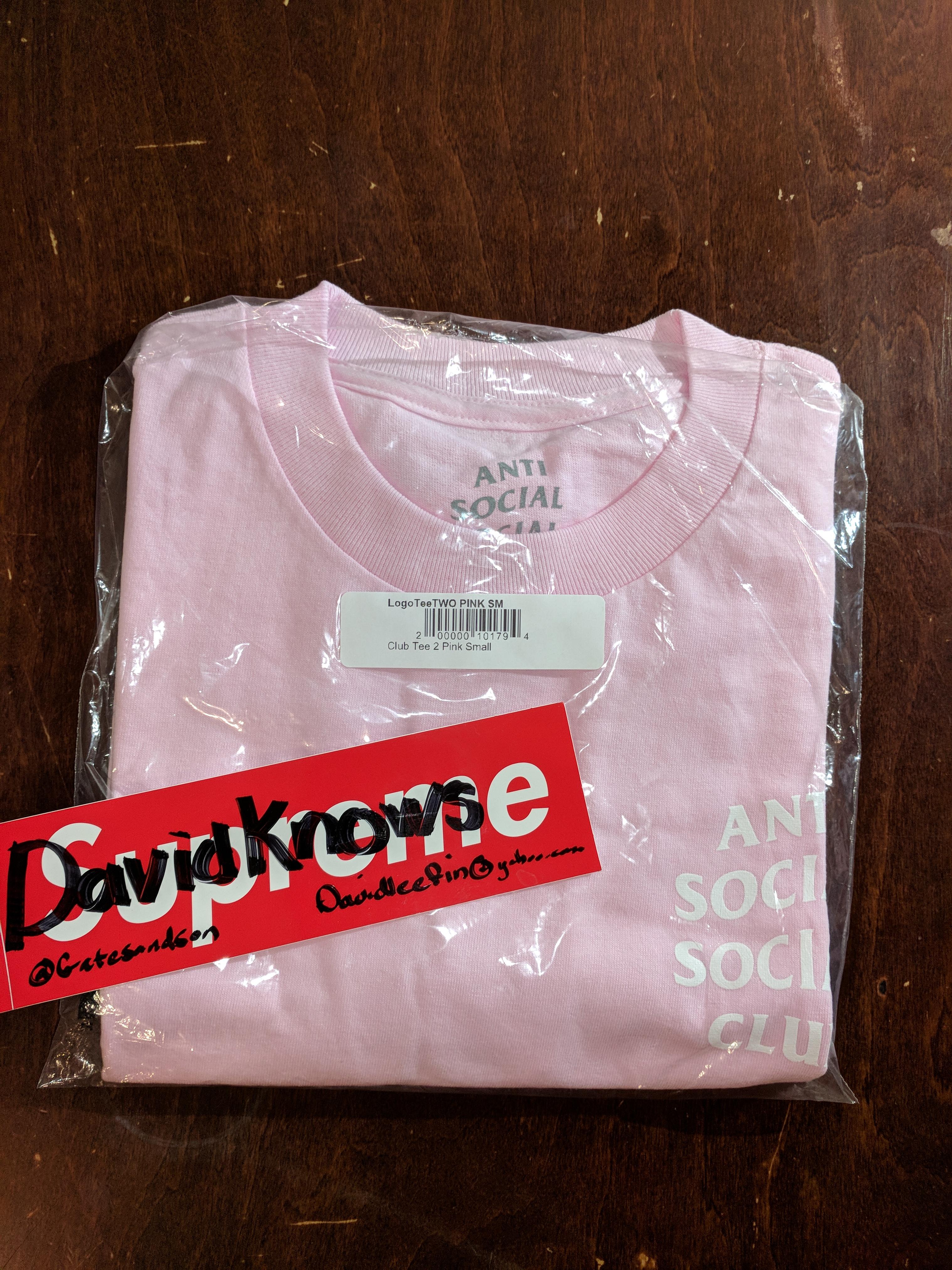 1eb23a44f9c3 Antisocial Social Club. ASSC Logo tee 2 pink Anti Social Social Club bape  supreme nike