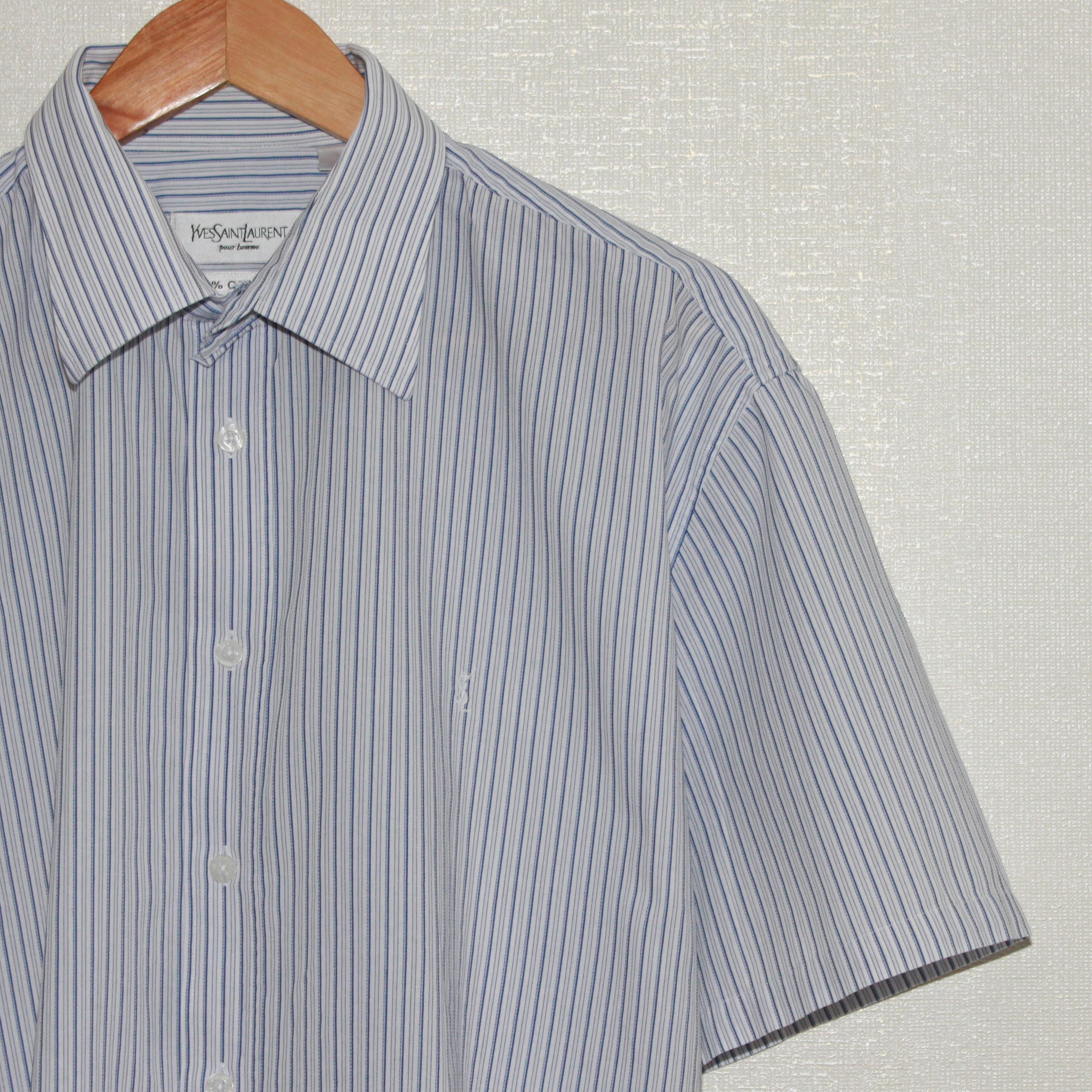 02e6fe9b1c8 Vintage Vintage Ysl Yves Saint Laurent Mens Striped Short Sleeve ...