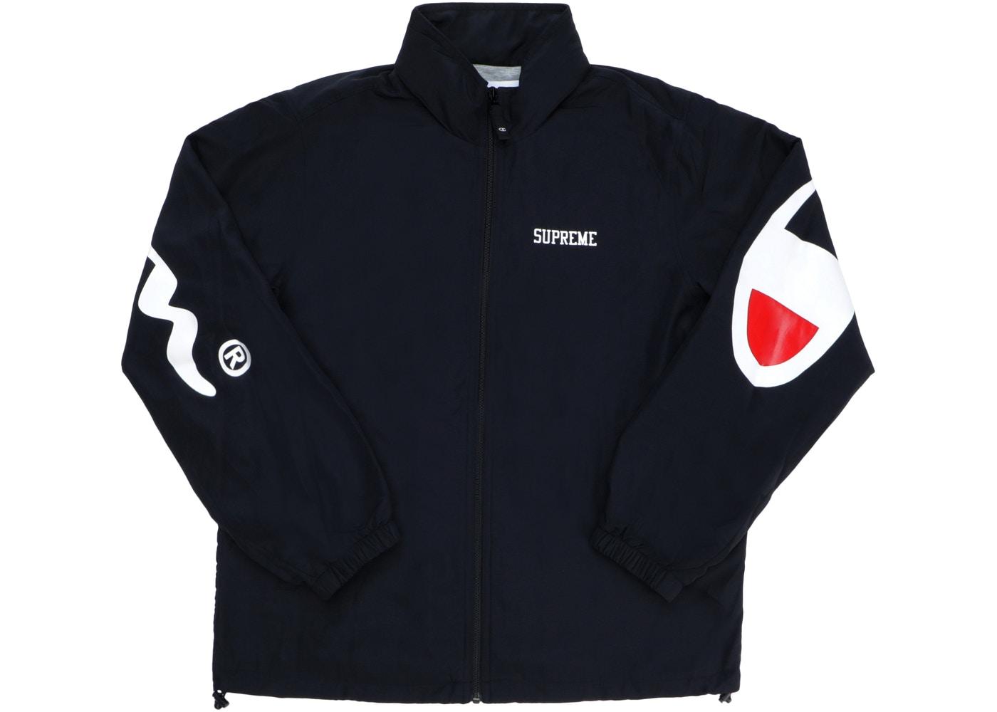 2a9afa04b9b9e Supreme × Champion ×. Supreme x Champion Track Jacket Black