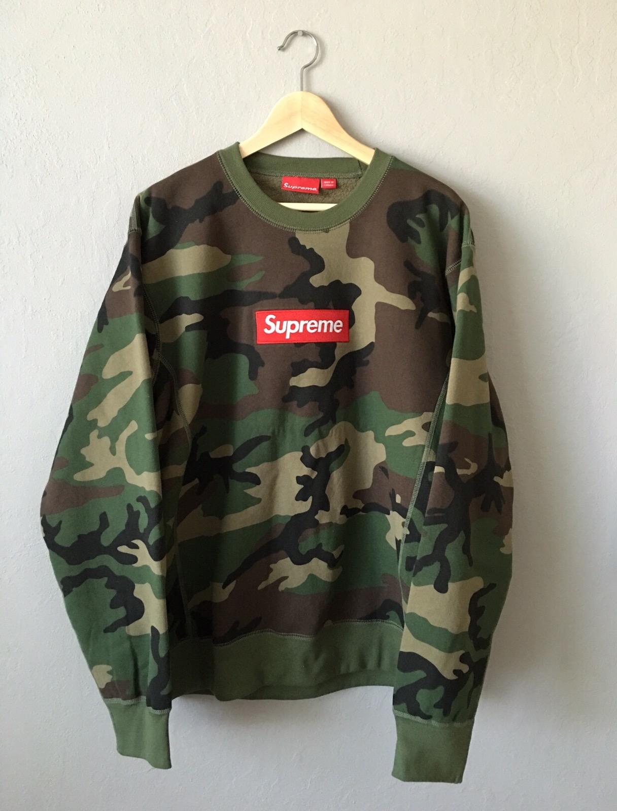 4295c8c9a4f4 Supreme Supreme Crewneck Woodland Camo Bogo Size xl - Sweatshirts   Hoodies  for Sale - Grailed