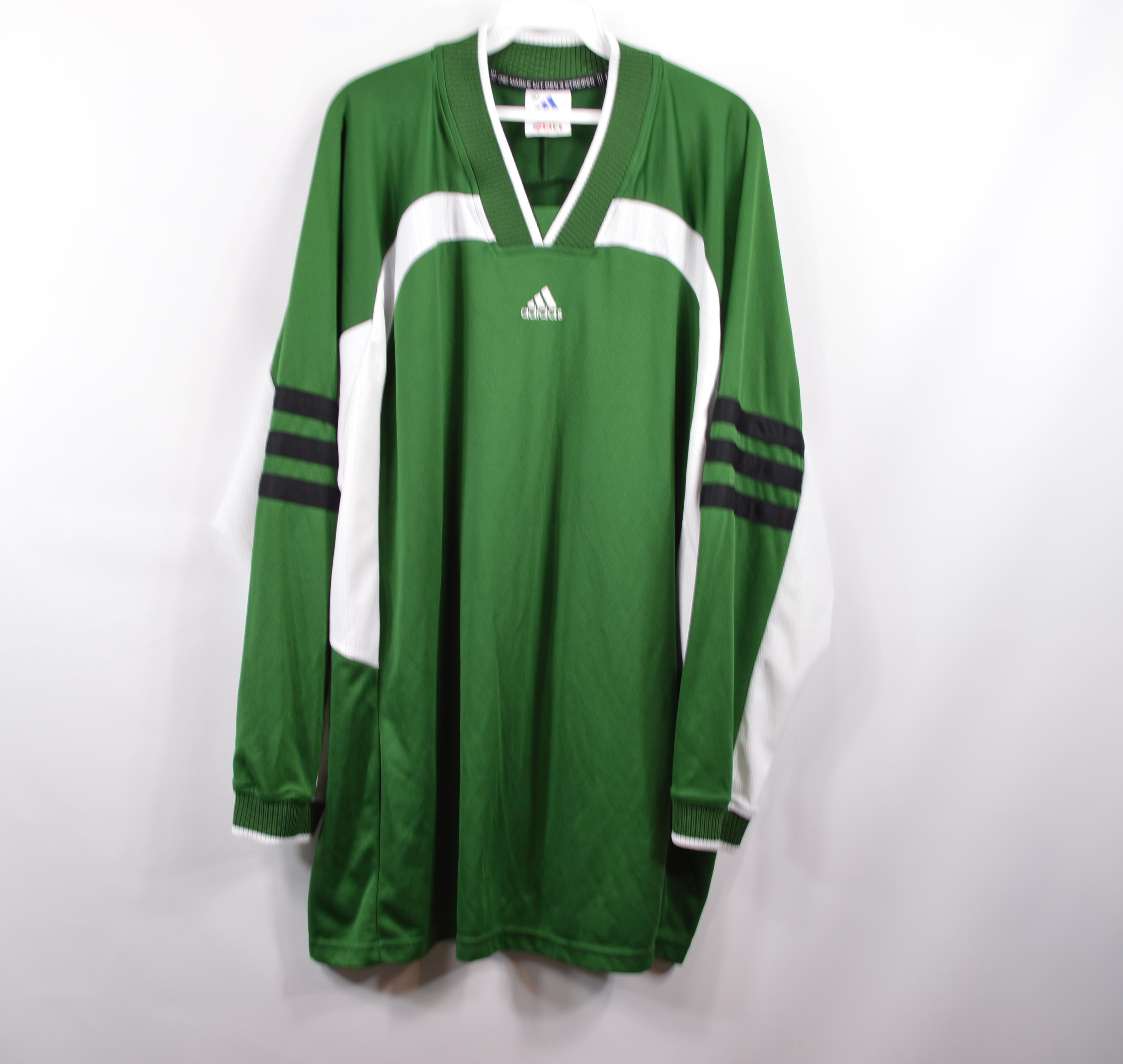 Adidas Vintage ADIDAS Mens XL Soccer Football Long Sleeve Goalkeeper Jersey Green