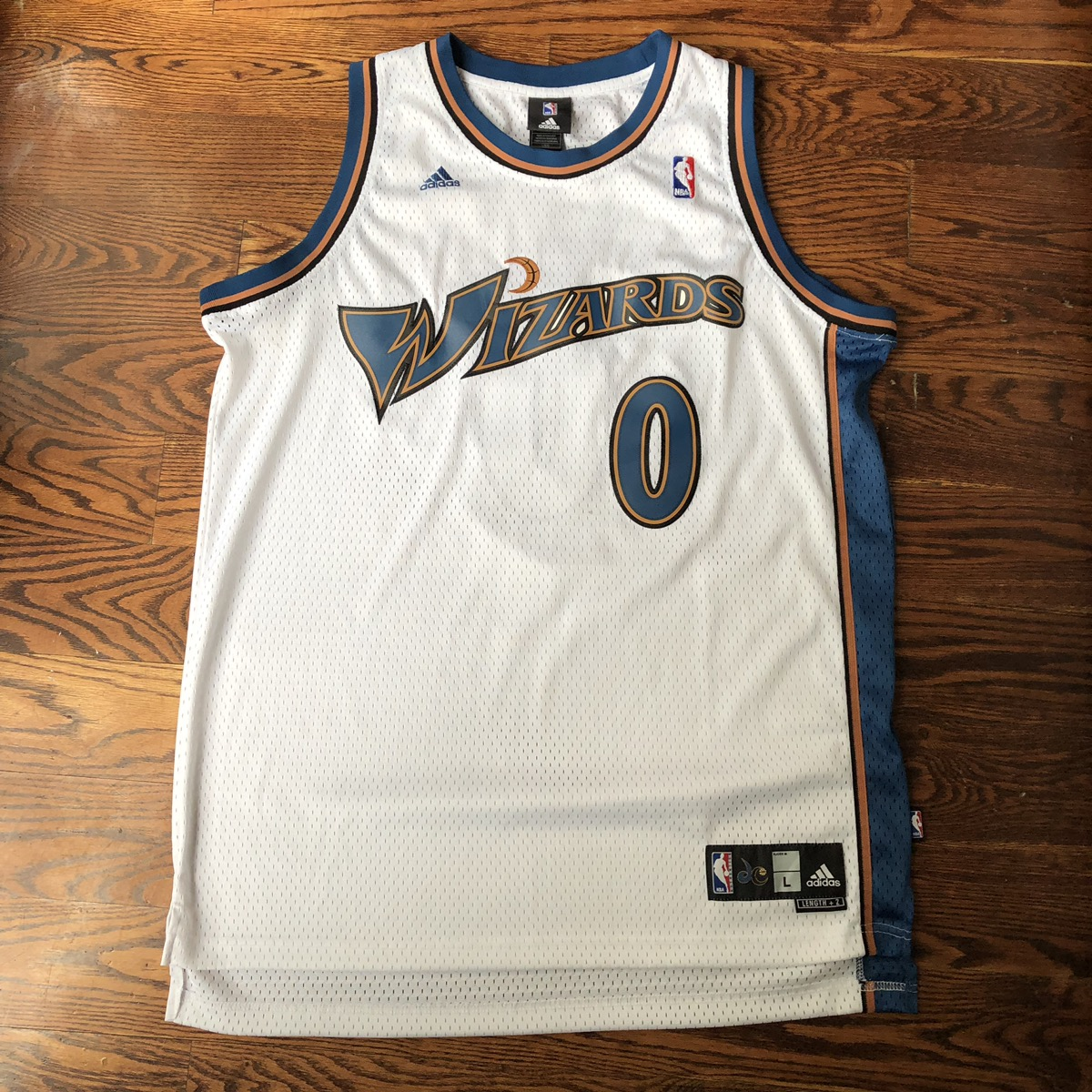the best attitude 2a860 d46b2 Gilbert Arenas Throwback Wizards Home Jersey