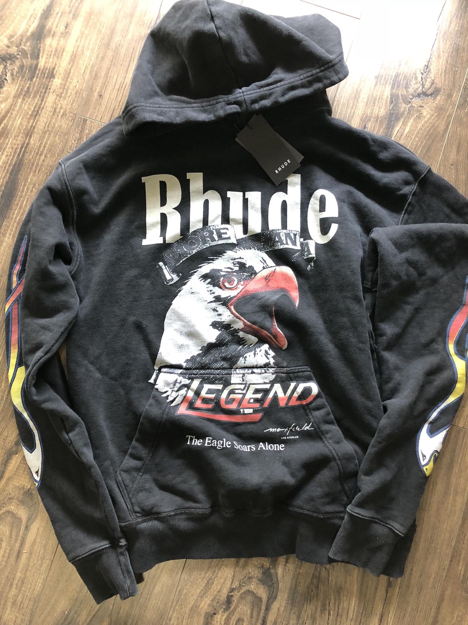 60b614a0c8e Rhude Rhude X Maxfield Eagle Hoodie Sz Medium