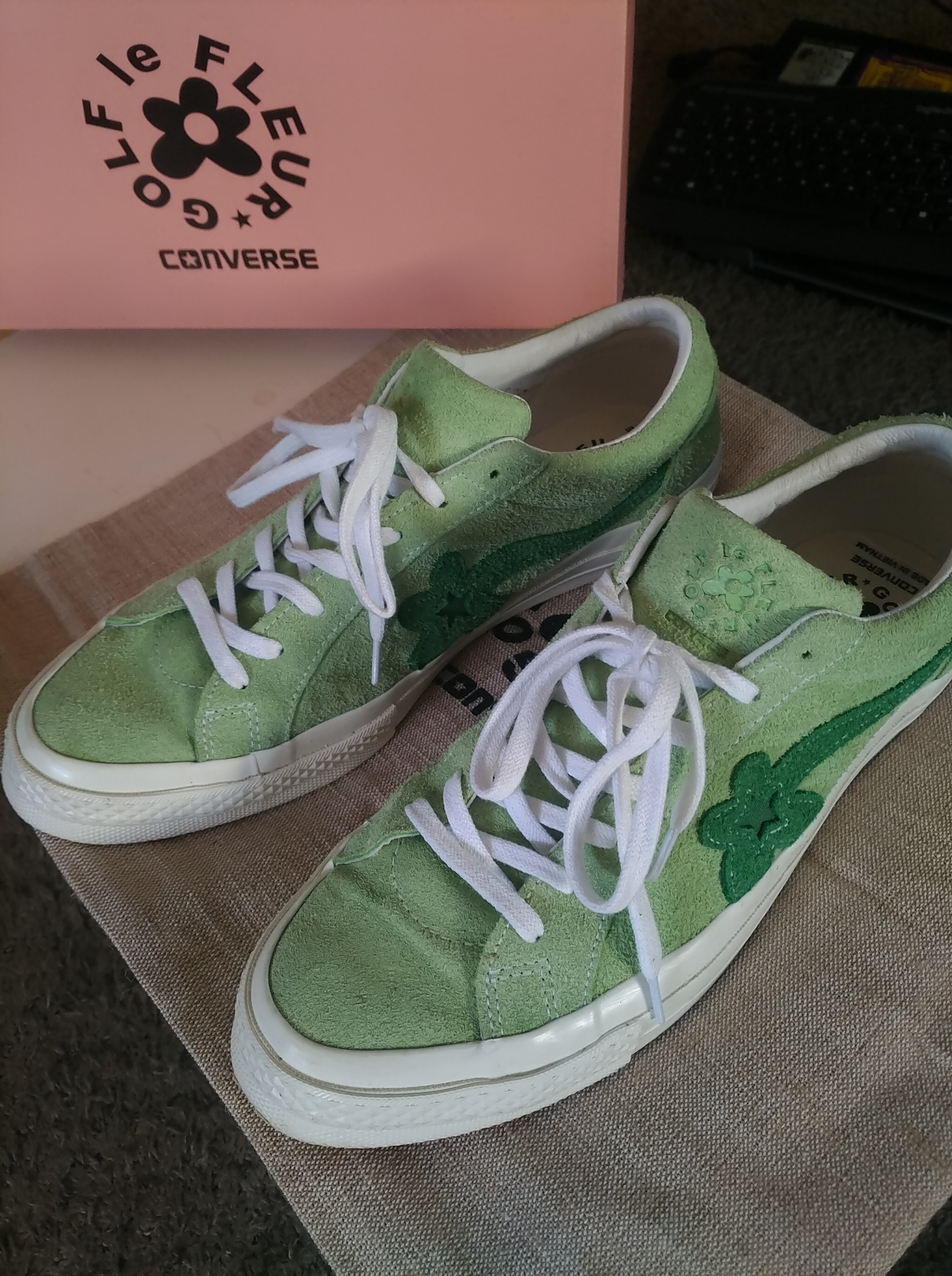 Converse Converse One Star Ox Golf Le Fleur Jade Lime Mint Green Egret Size  12 - Low-Top Sneakers for Sale - Grailed 2da46fc5447