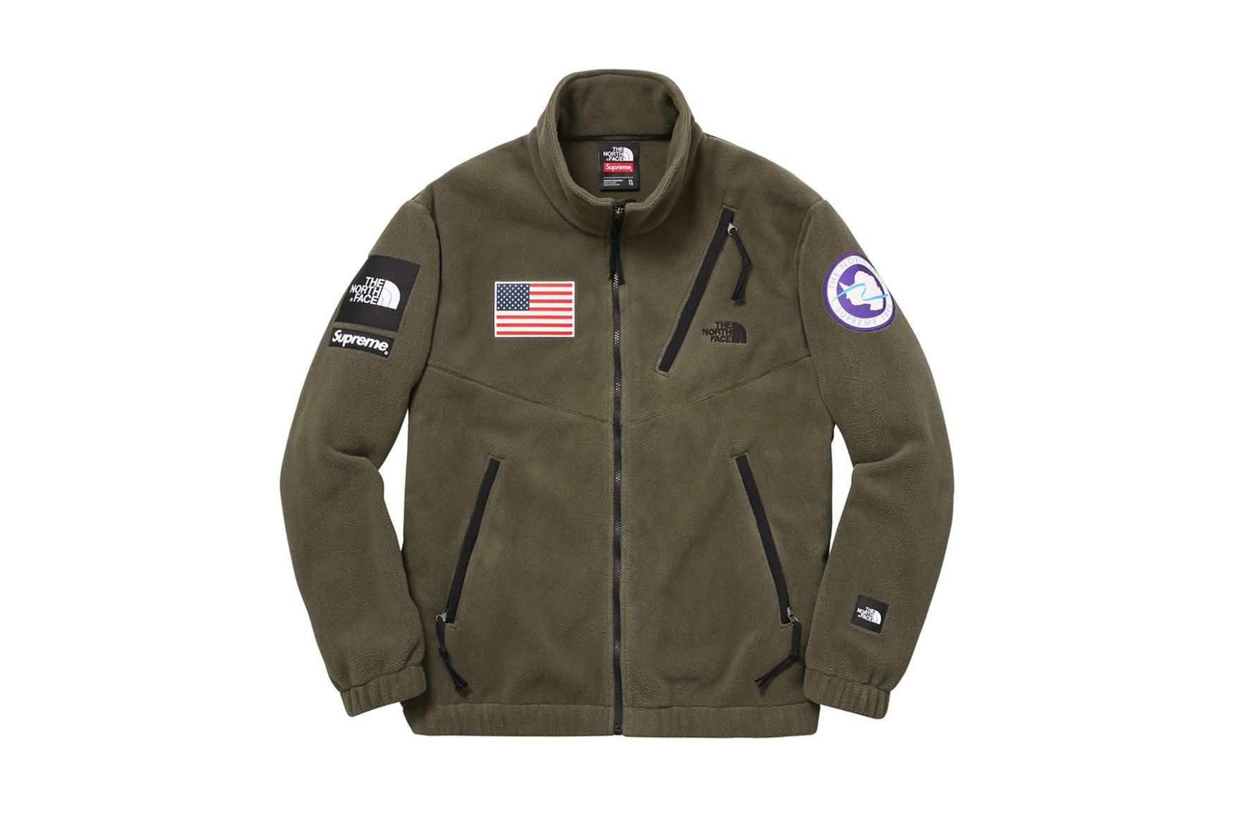 3a665cb98 Supreme x The North Face Polartech Fleece Olive Jacket