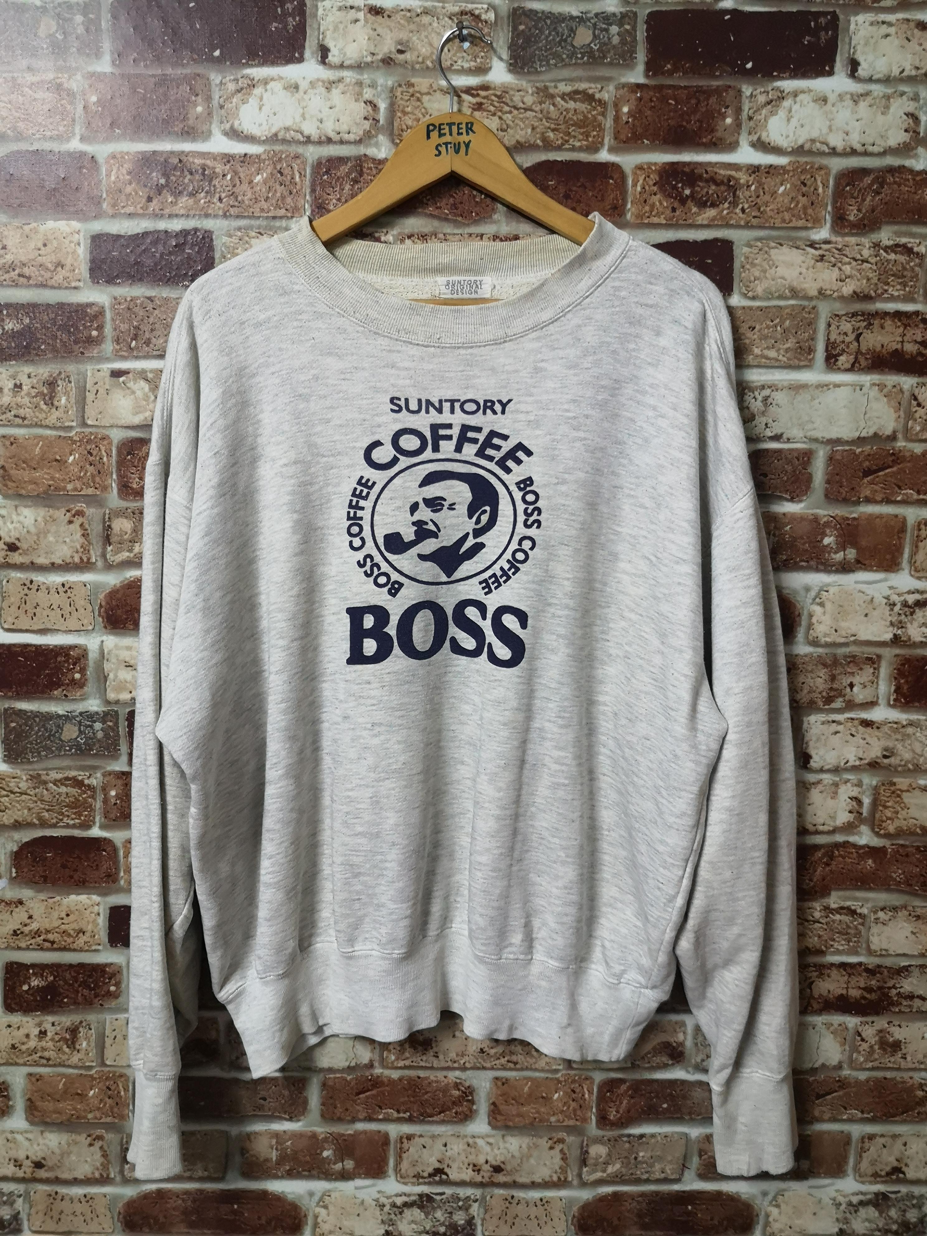 Suntory Coffee Stripes Sweater Retro Rap Tee 90s Style Hip Hop Swag Streetwear Sportwear Vintage Suntory Coffee Small Logo Zipper Jacket