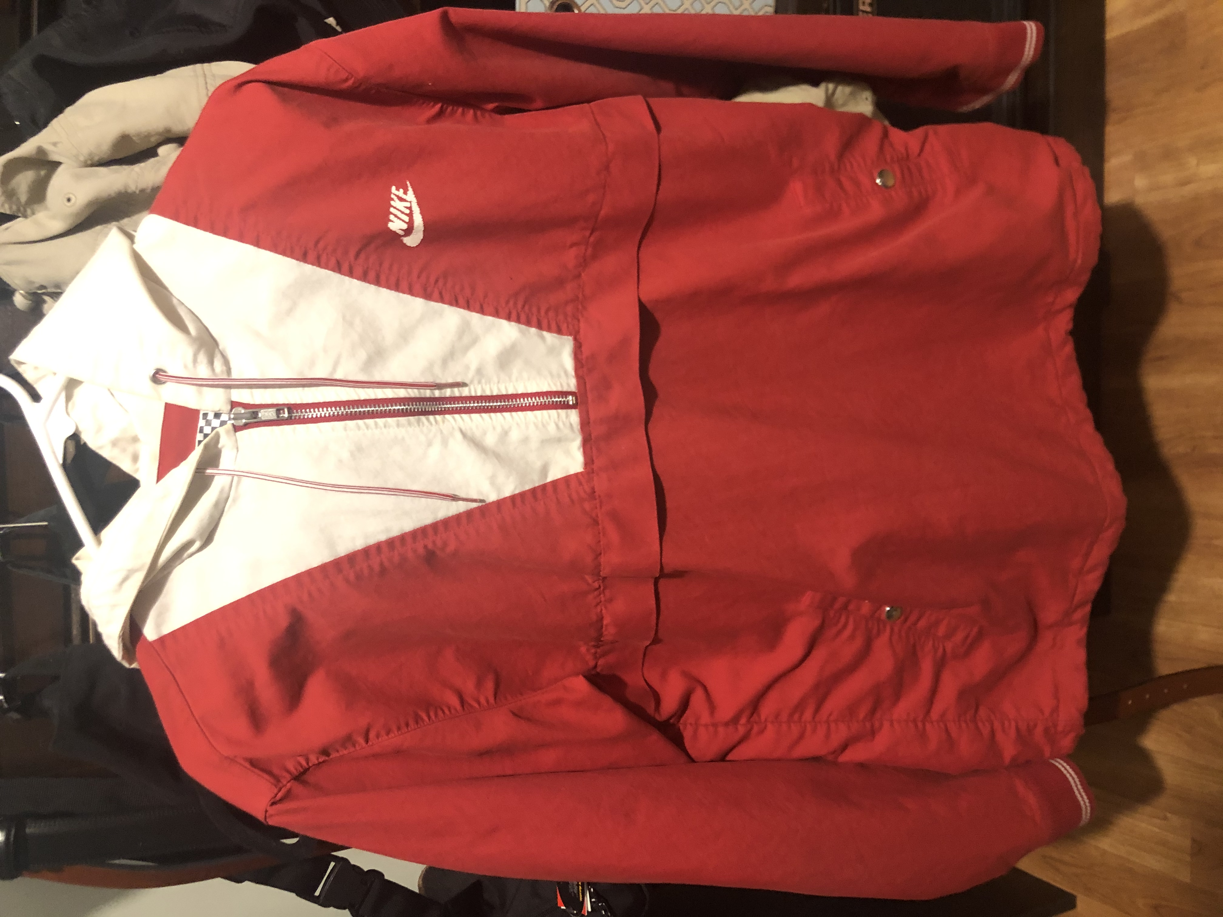 Supreme Nike SB Hooded Pullover Anorak 2009 Red White