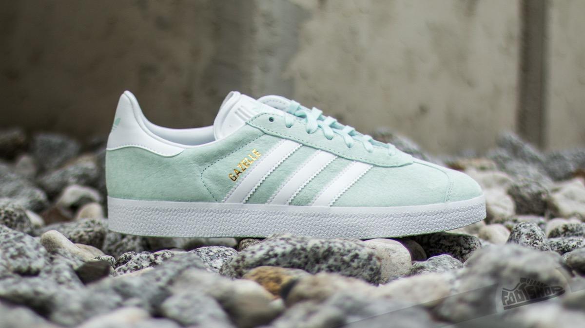 Adidas ADIDAS GAZELLE Ice Mint Gold Metallic size 9 US Sneakers