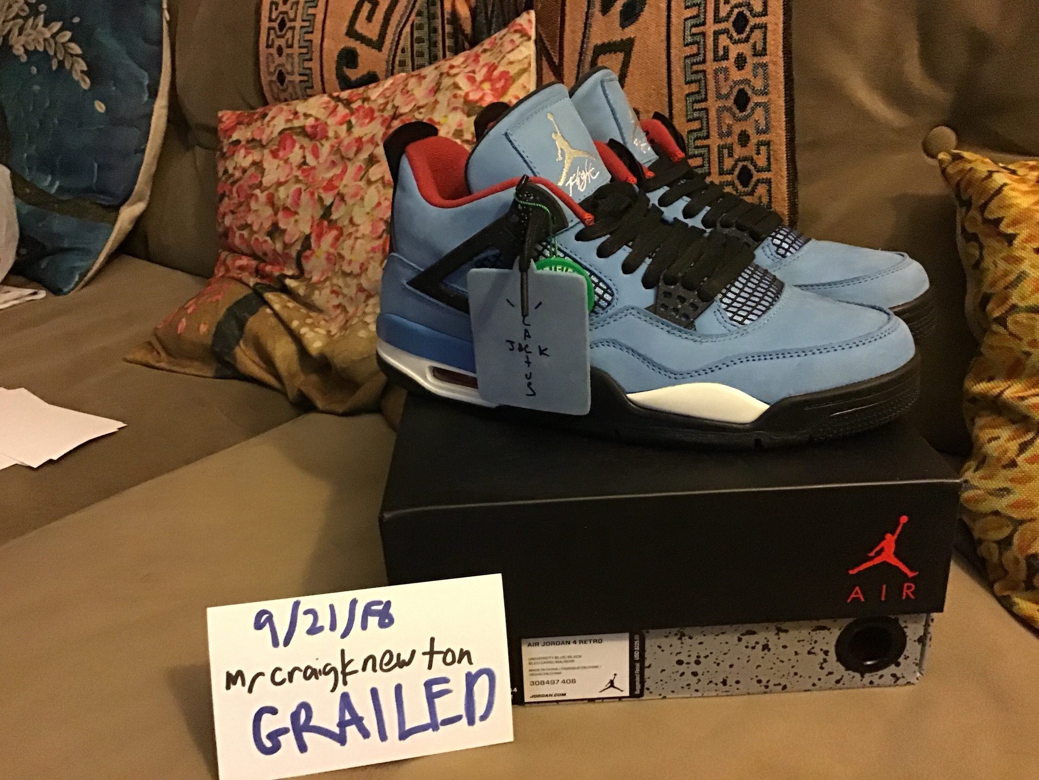 7042a4e27c5a Travis Scott Cactus Jack 4s Travis Scott Air Jordan Size 10 - Low-Top  Sneakers for Sale - Grailed