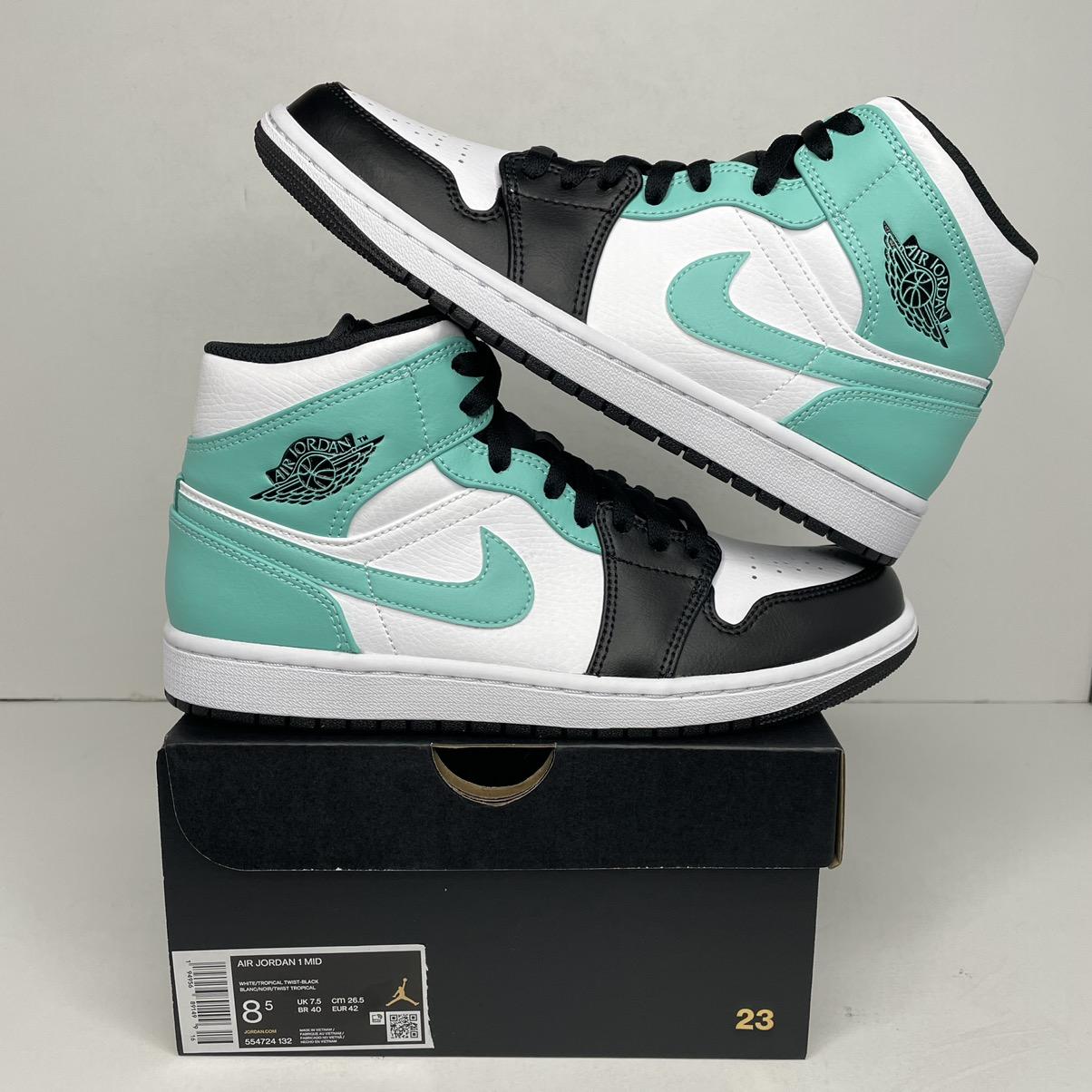 "Jordan Brand Nike Air Jordan 1 Retro Mid ""Tropical Twist/Igloo"" 2021 NEW"