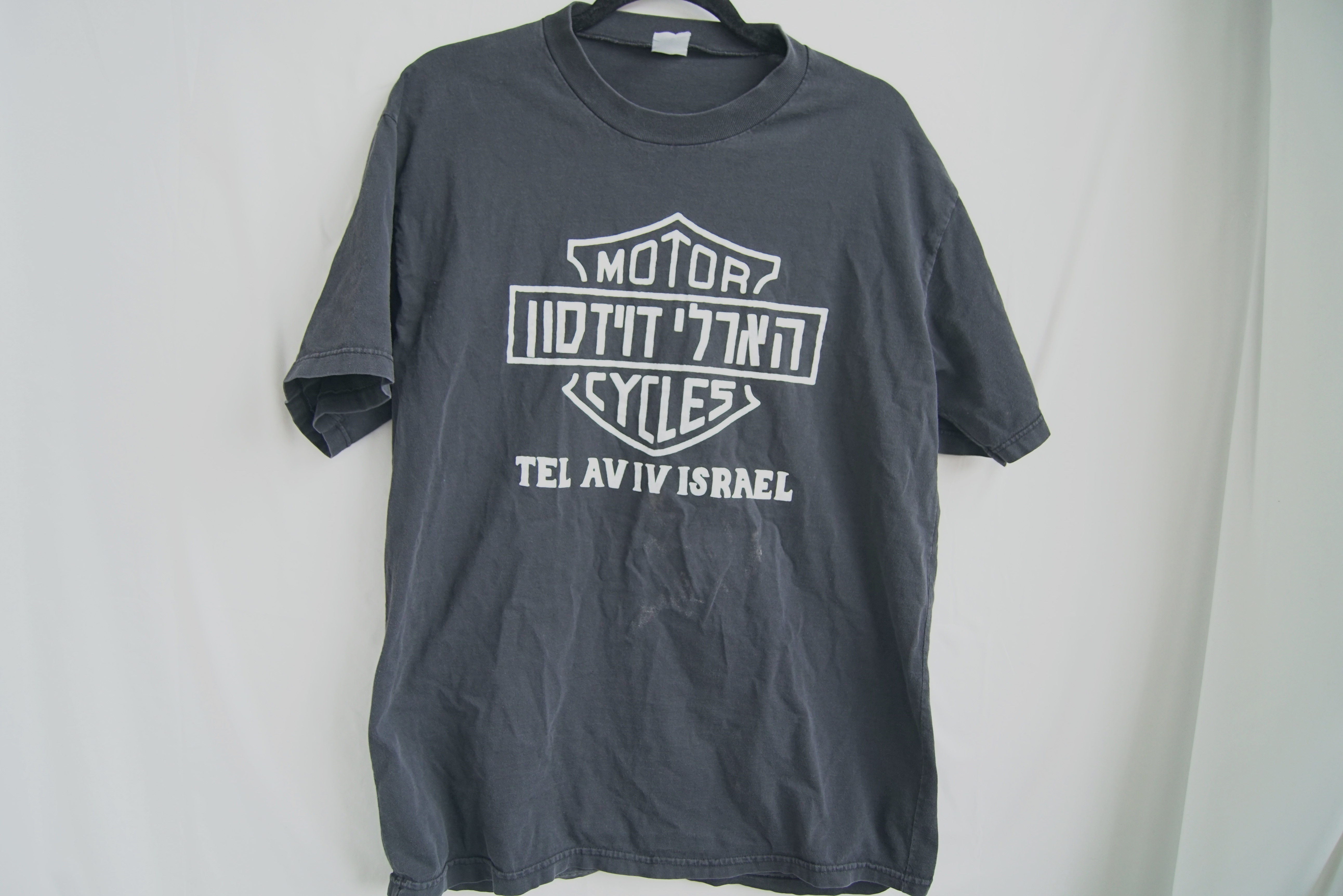 0fff1570 Vintage Vtg Harley Davidson Motorcycles Tel Aviv Israel T Shirt Sz M ...