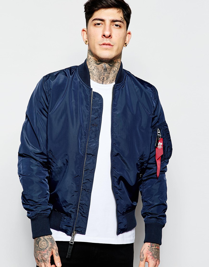 a259bc3155051 Alpha Industries MA-1 SLIM FIT FLIGHT JACKET - Replica blue Size s -  Bombers for Sale - Grailed